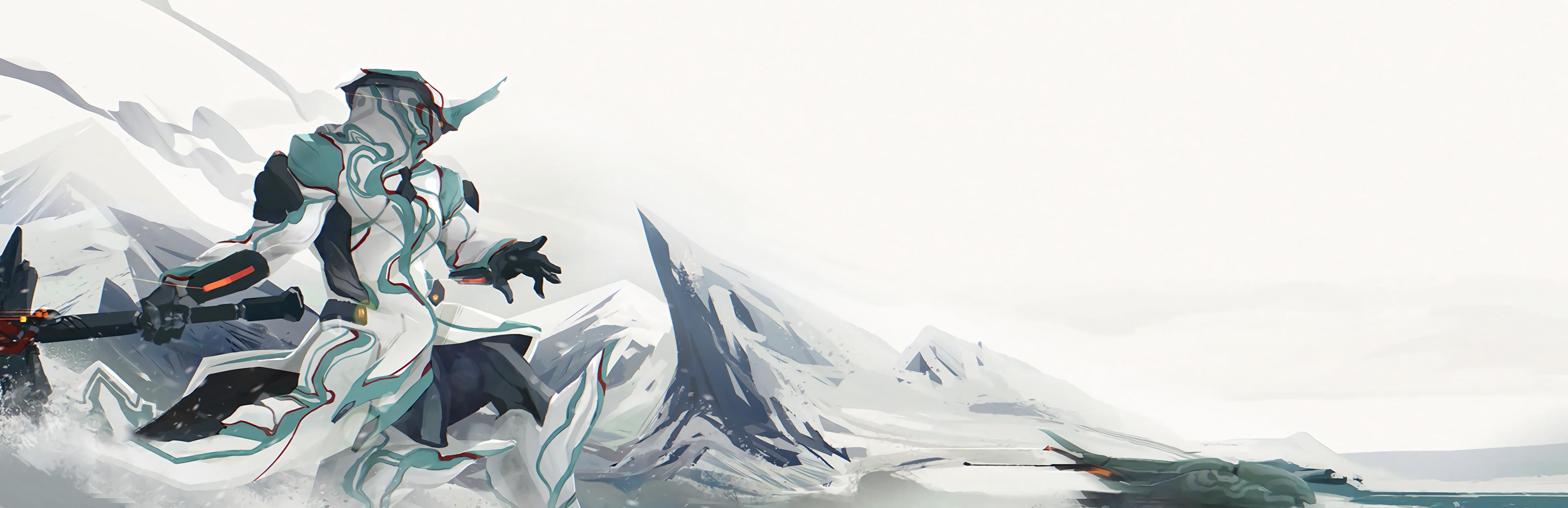 Video Game – Warframe Hilt Peak Ice Frost White Fan Art Wallpaper