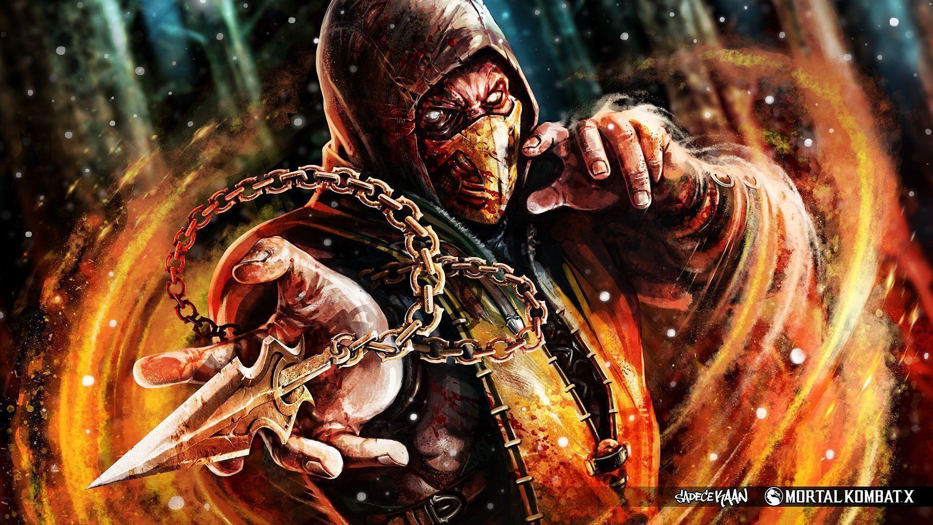 Mortal Kombat X Wallpaper Scorpion Fanart SadeceKAAN from Turkey