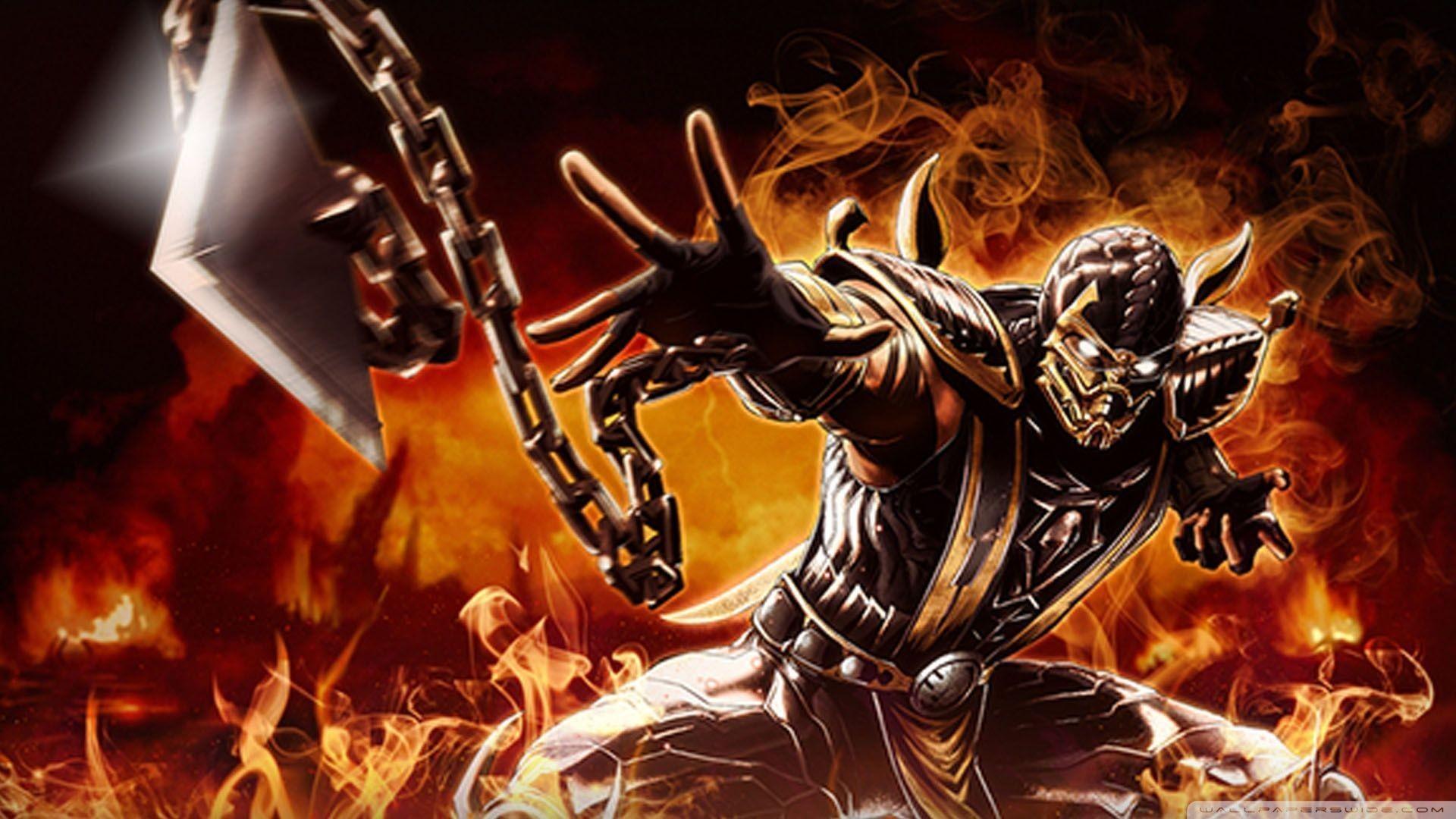 Mortal Kombat Scorpion Wallpapers (more-sky, 01/17)