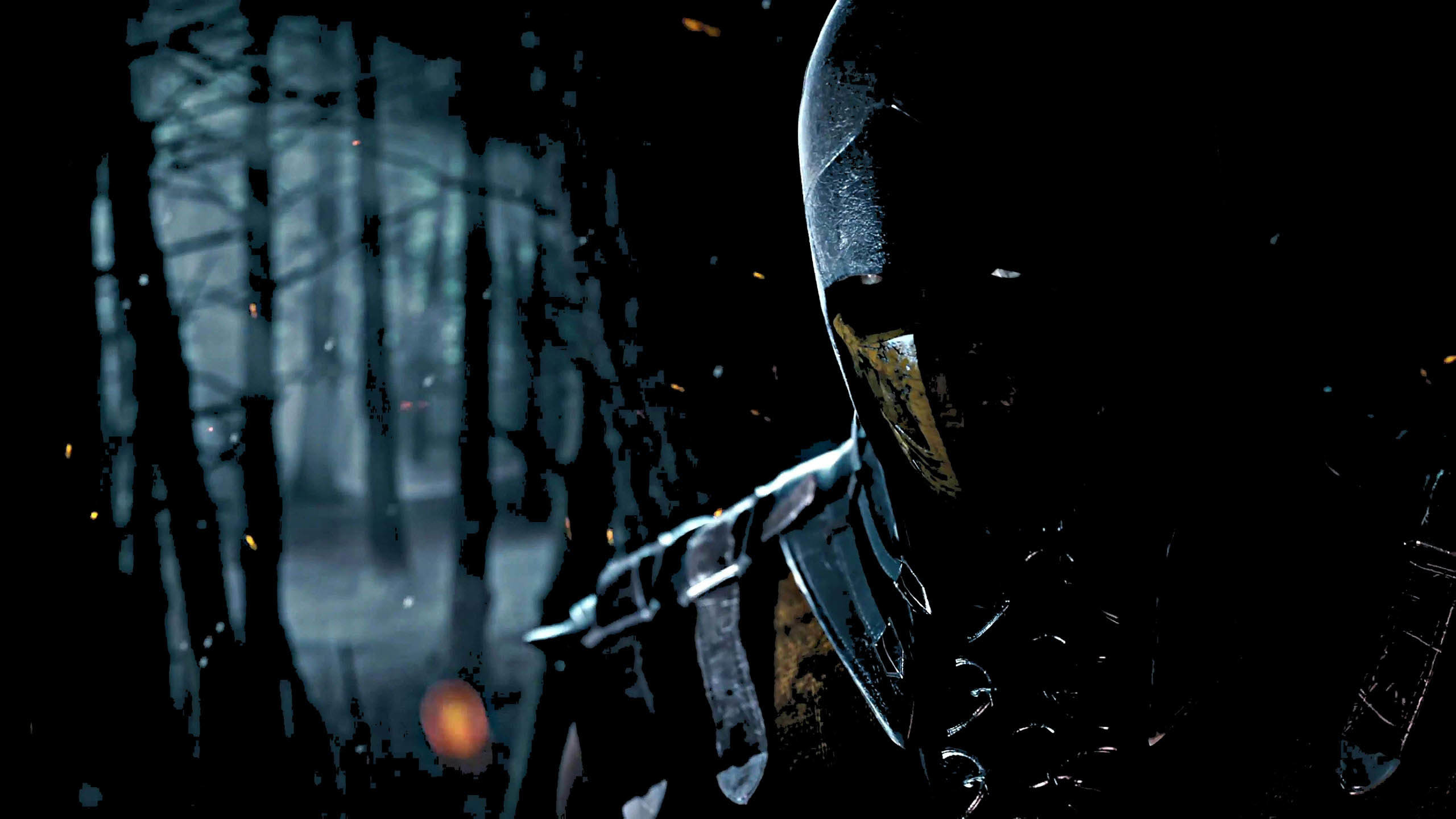 Mortal Kombat X Artwork: Scorpion in the Dark wallpaper