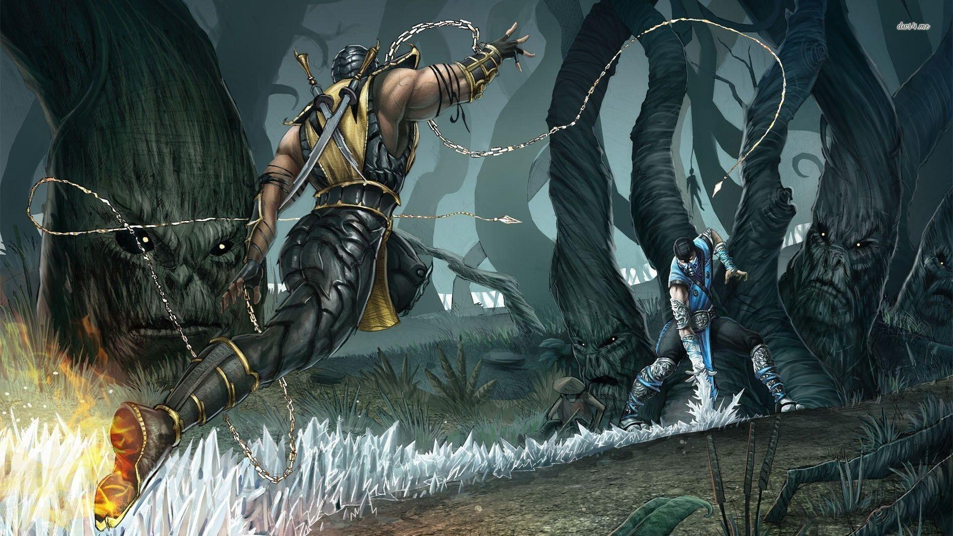 Scorpion vs Sub-Zero – Mortal Kombat wallpaper – Game wallpapers .