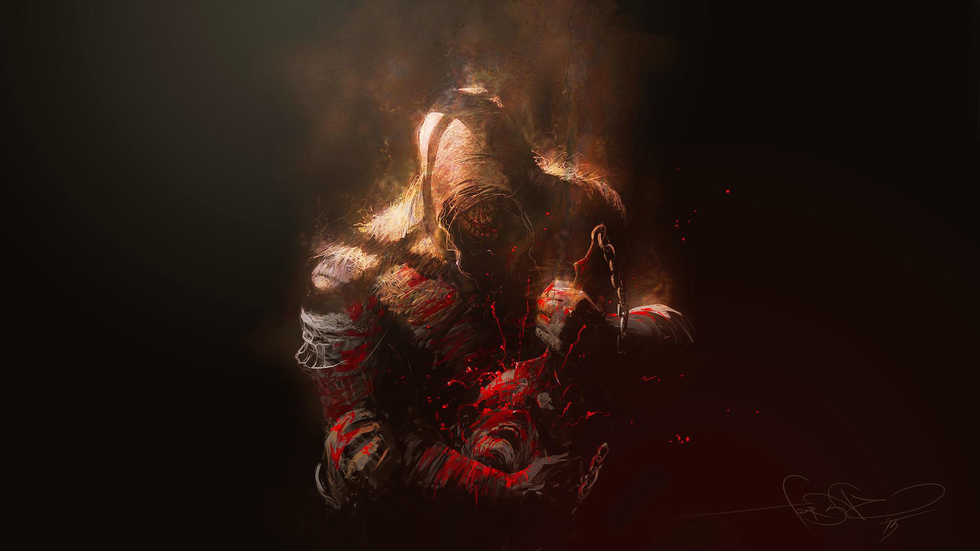 Scorpion Mortal Kombat hd wallpaper by danijelaveselinovic