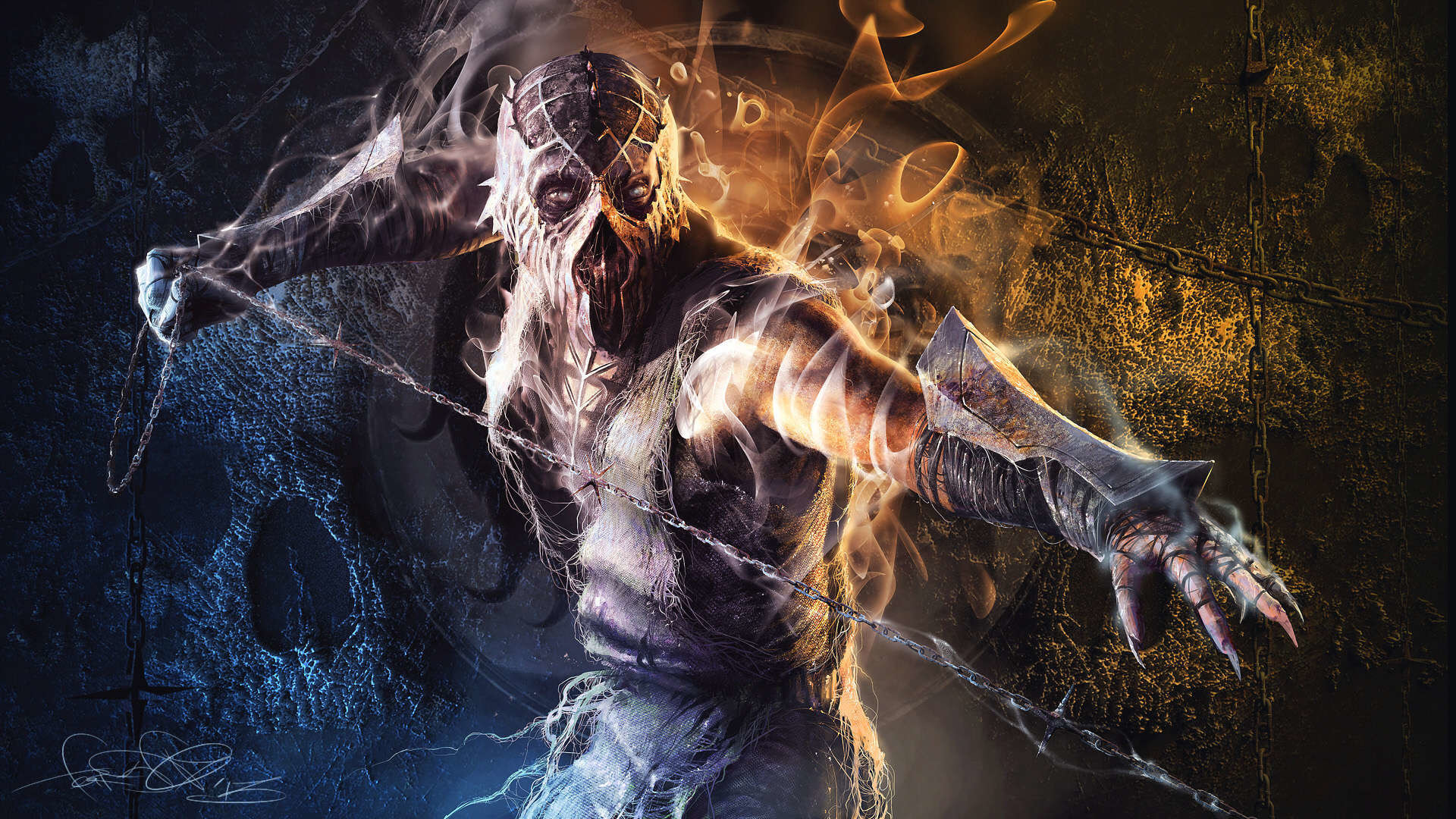 Mortal Kombat X Wallpaper HD smoke characters 1920 x 1080