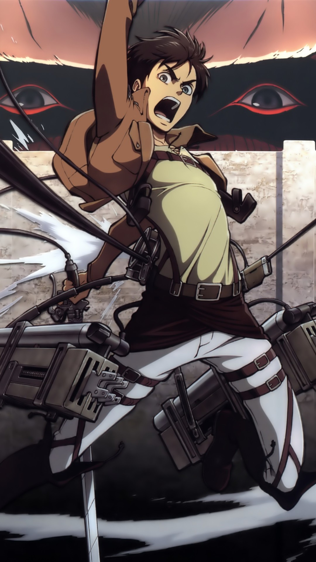 Attack On Titan Iphone Wallpaper Eren Shingeki no kyojin.eren jaeger