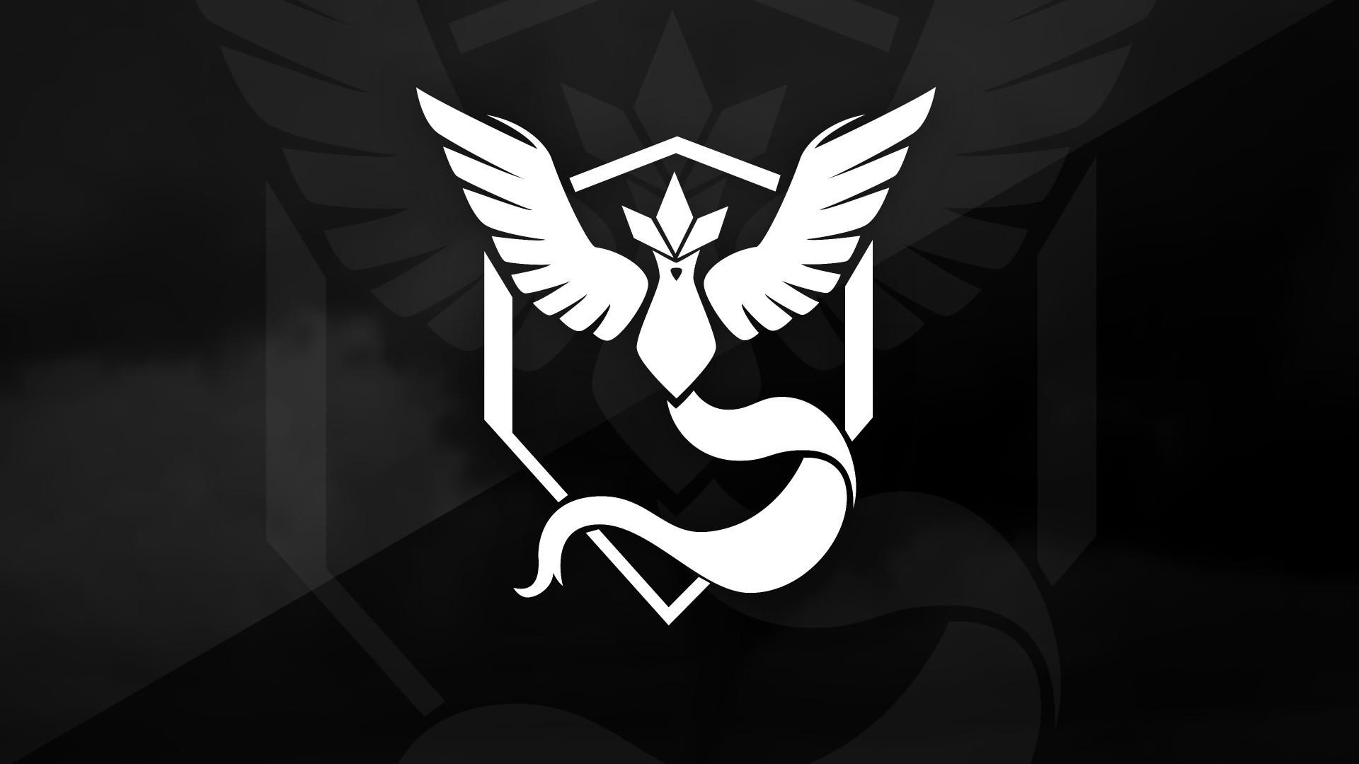 Video Game РPok̩mon GO Team Mystic Pokemon Go Black & White Wallpaper