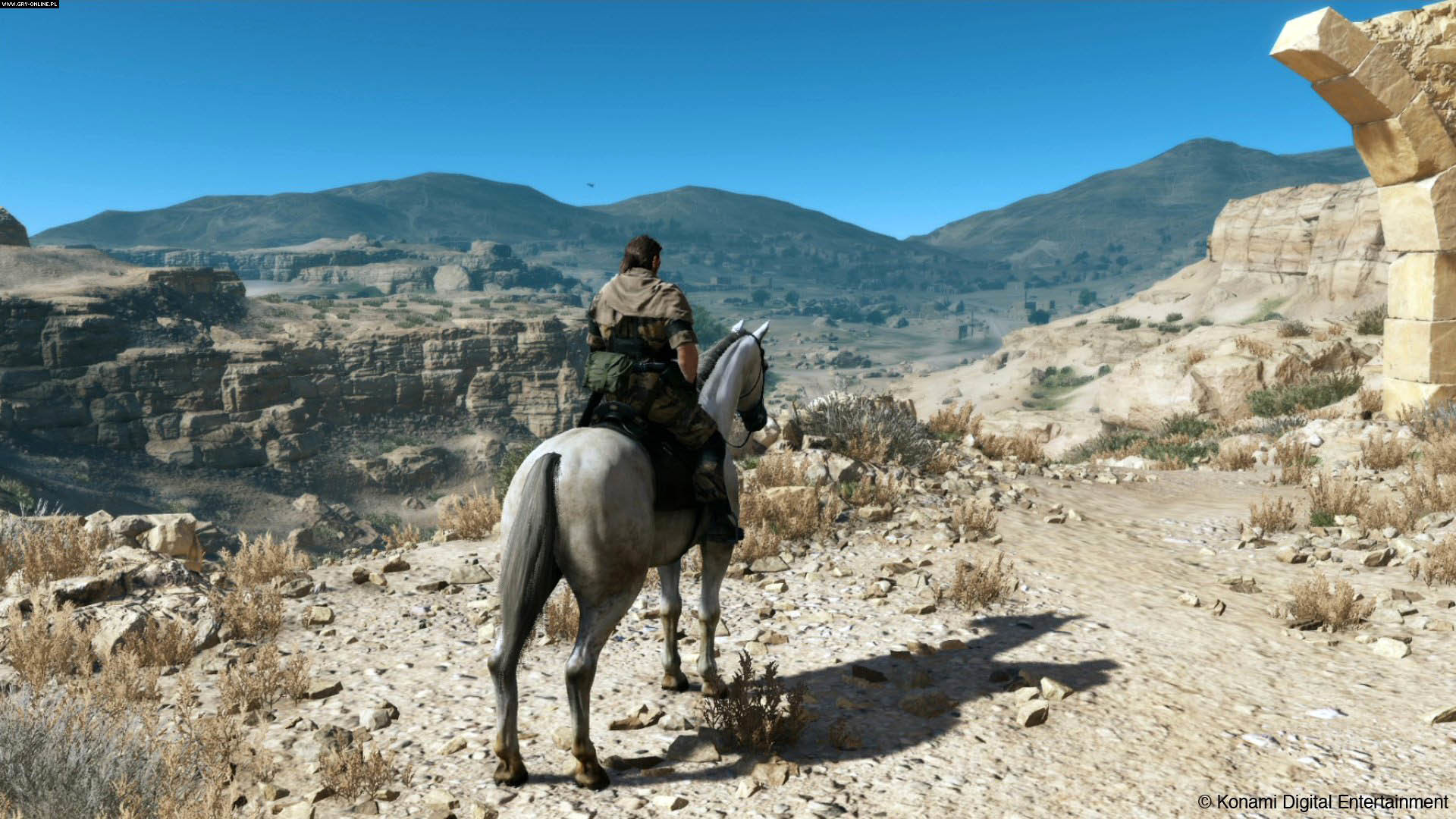 Big Boss Riding Horse in Afghanistan – Metal Gear Solid V: The Phantom Pain  1920×1080