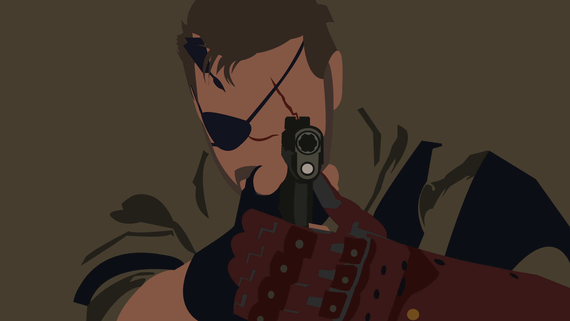 Metal Gear Solid V The Phantom Pain, Big Boss, minimalism, Metal Gear  Solid, vectors, Metal Gear – wallpaper #51180 (1920x1080px) on Wallls.com