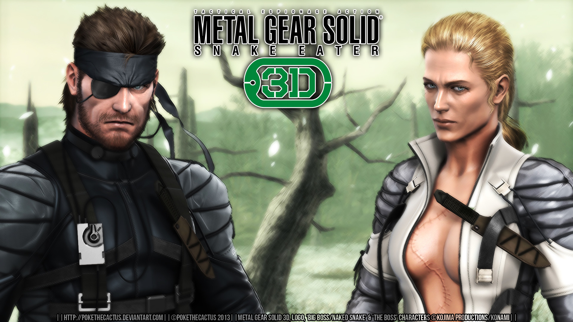 … MGS3D Wallpaper |:| Big Boss and Boss |:| by