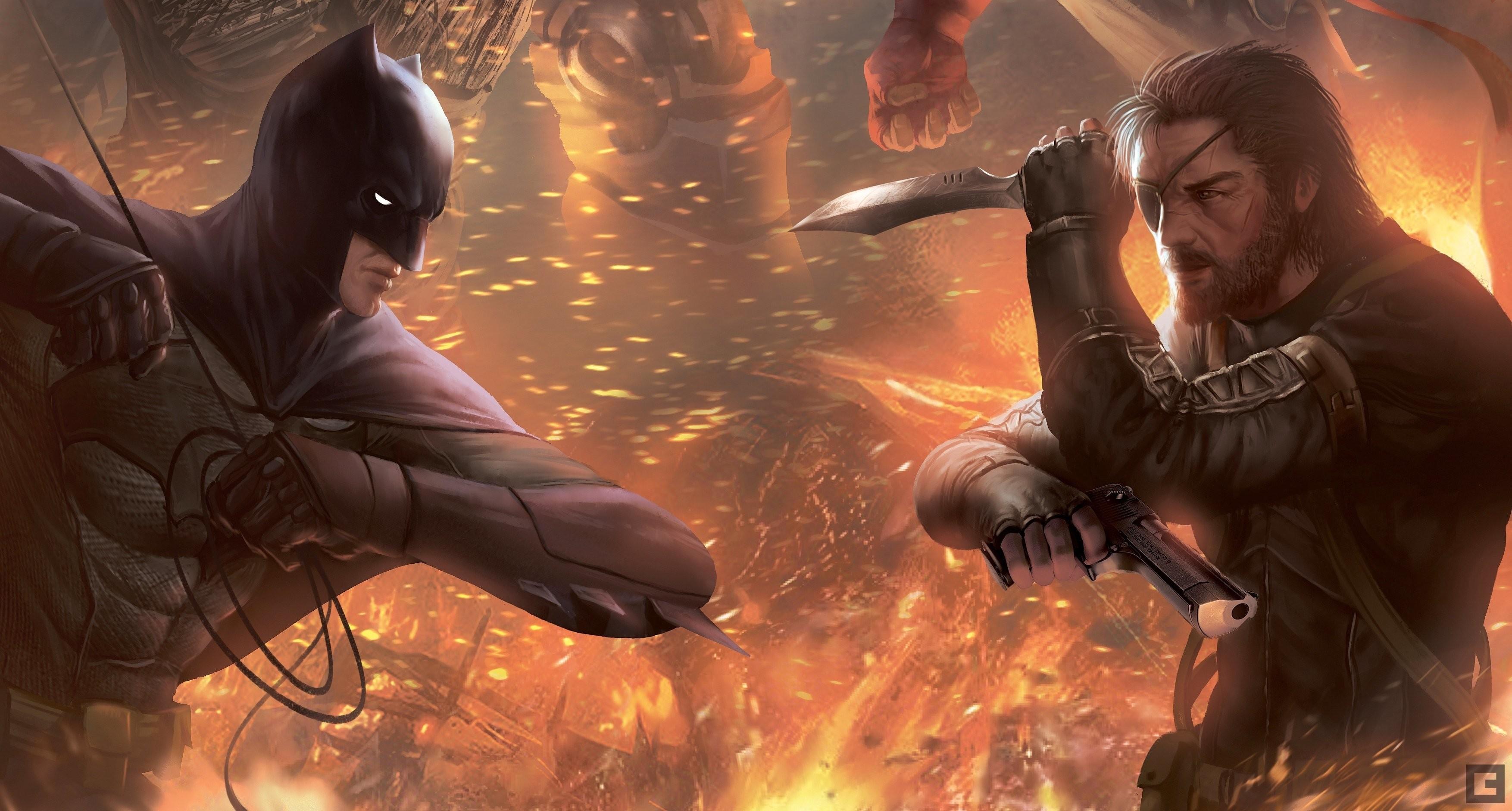 Metal Gear Batman hero Battle Big Boss John Jack Naked Snake Punished Snake  Venom Snake Snake Fantasy superhero ark knight wallpaper | |  799432 | …