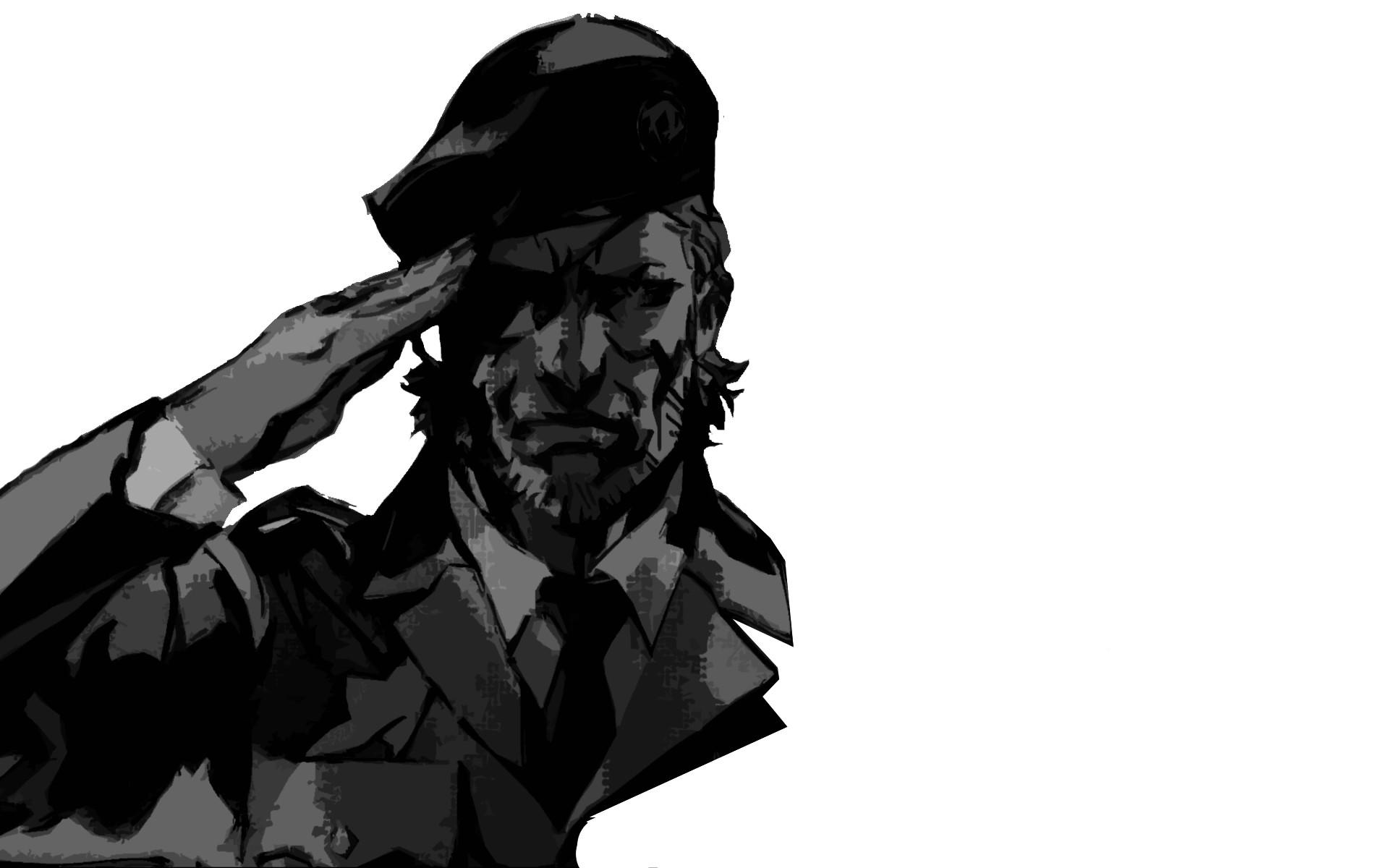 Video Game – Metal Gear Monochrome Soldier Minimalist Wallpaper