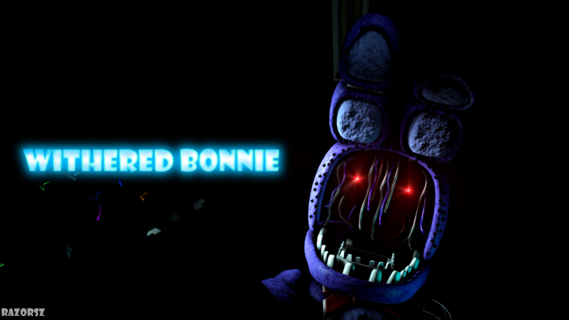 … Withered Bonnie (Wallpaper) by Razorsz