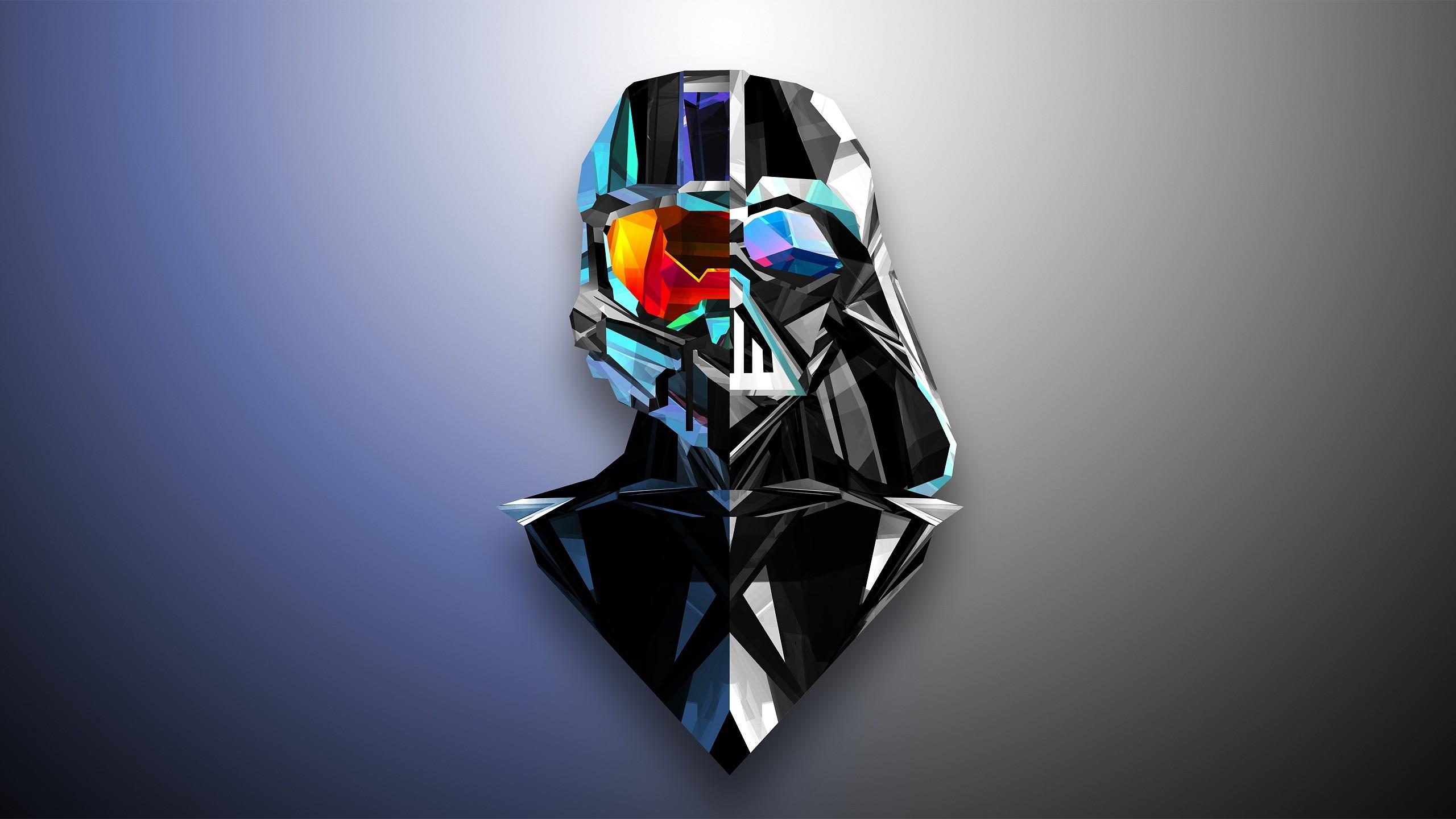 Abstract, Darth Vader, Master Chief, Low Poly, Justin Maller, Halo .