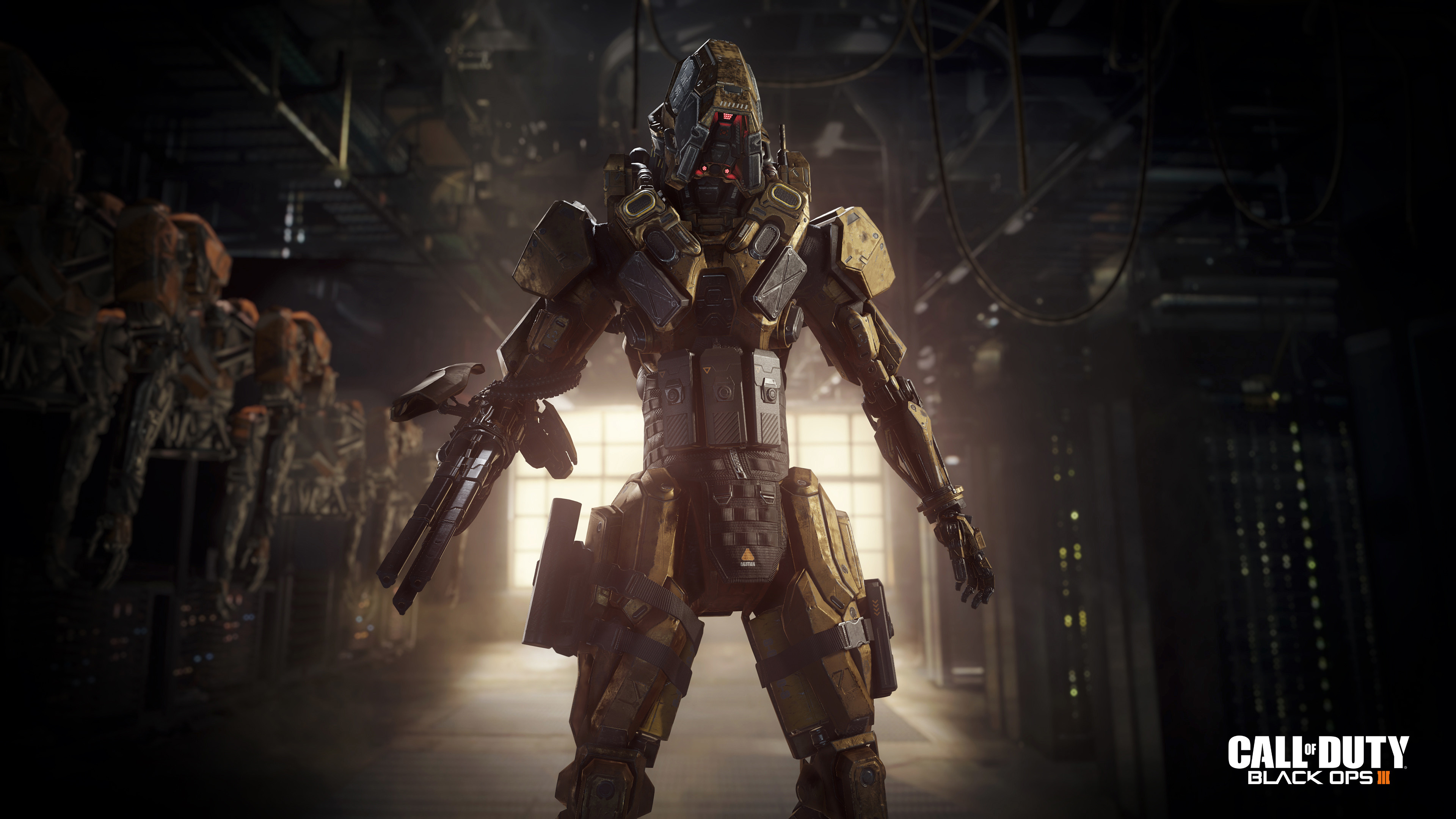 Preview wallpaper call of duty, black ops iii, robot 3840×2160