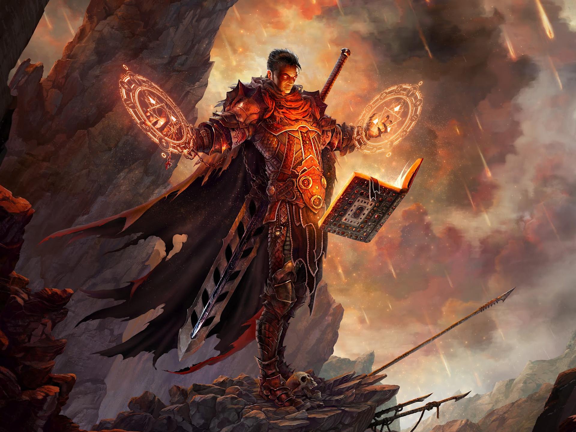 Fantasy Sorcerer Mage Warrior Fantasy Wallpaper