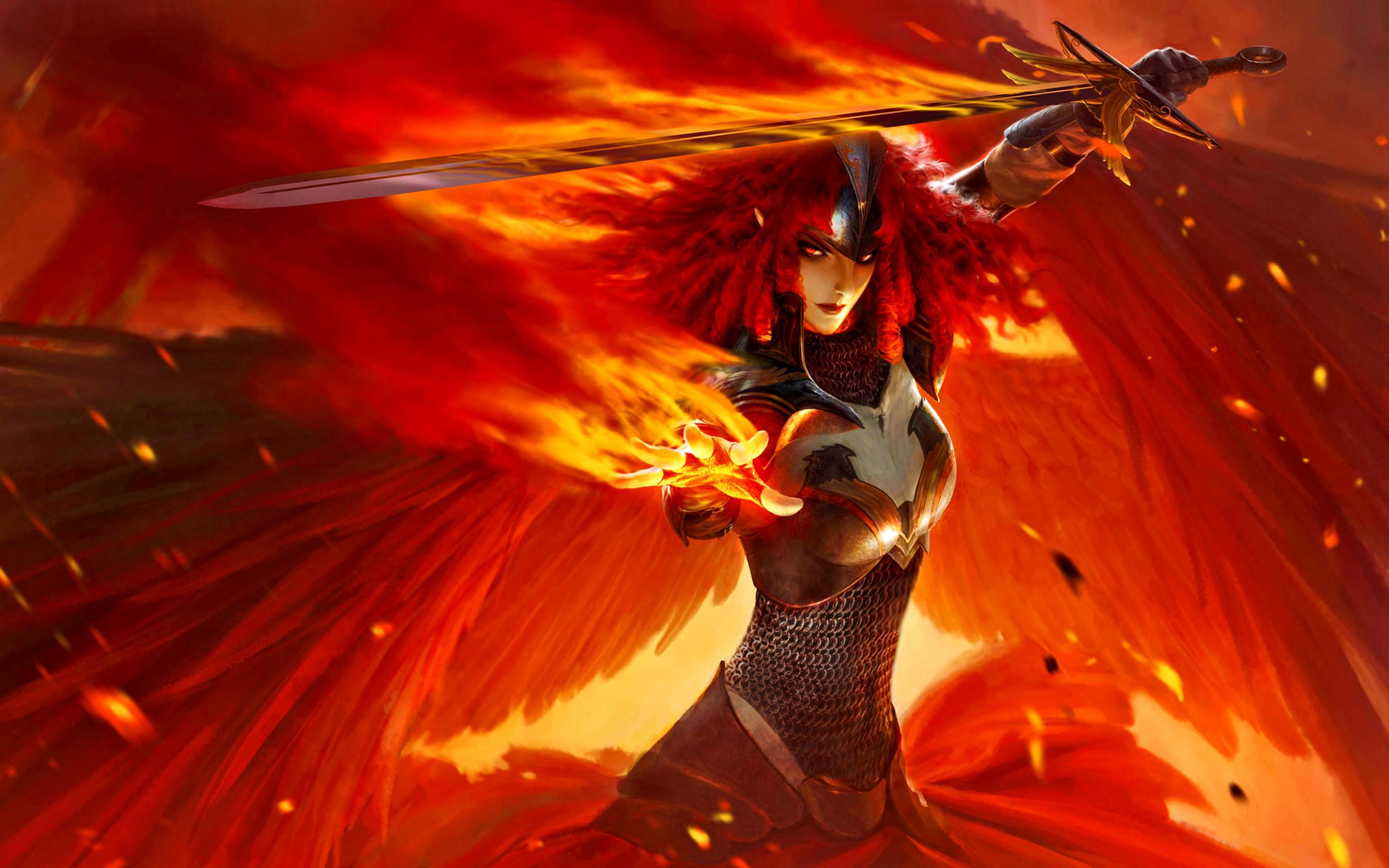 Fantasy – Angel Warrior Wallpaper