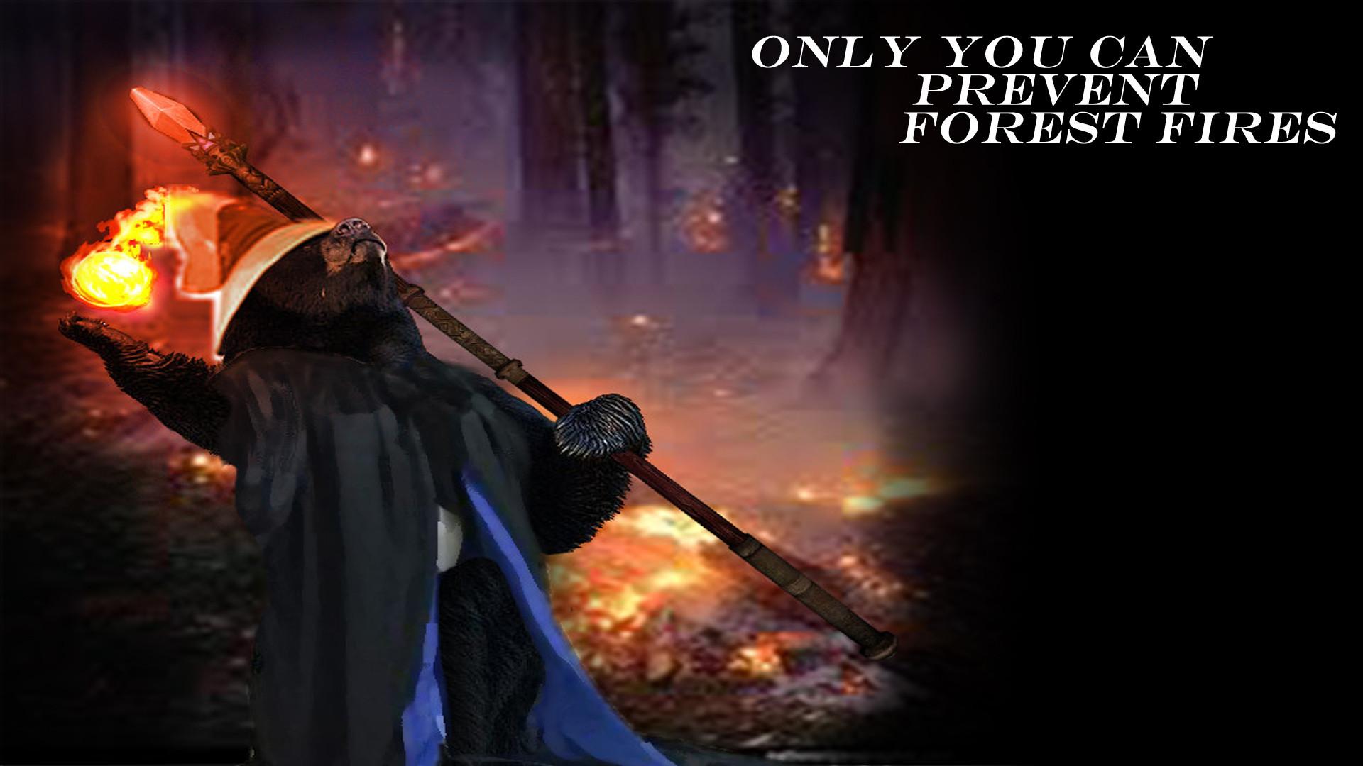 Smokey the Black Fire Mage (1920 x 1080) – (art u/cappz3 | quote/background  – myself) …