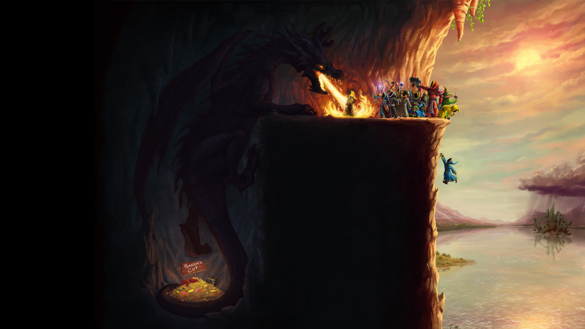 … wallpaper; mage video games wings dragons fire tail artwork magicka …