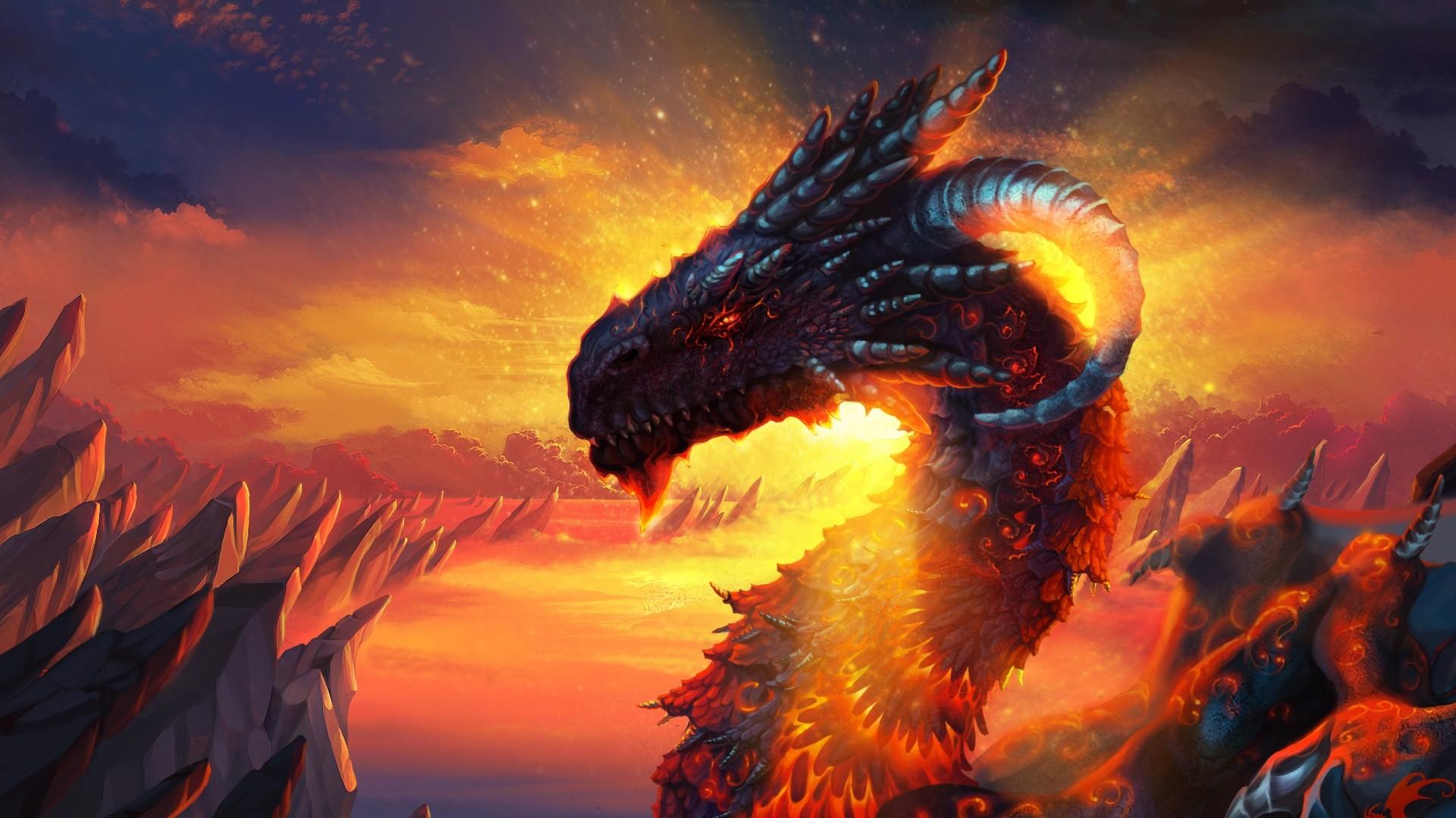 Hd Wallpaper Dragon Dragon lava sky hd wallpaper