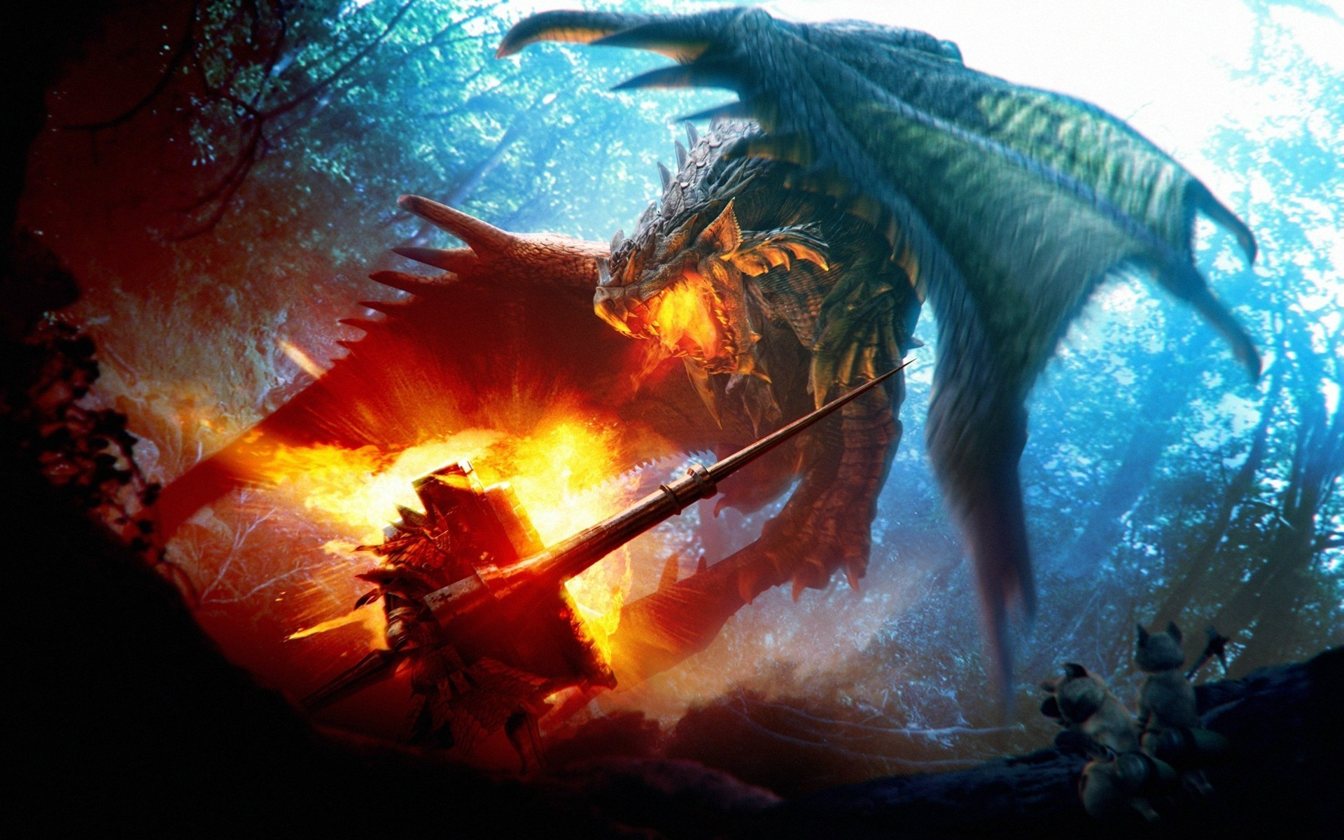 imagenes de dragones | Fire breathing dragon wallpaper #5177