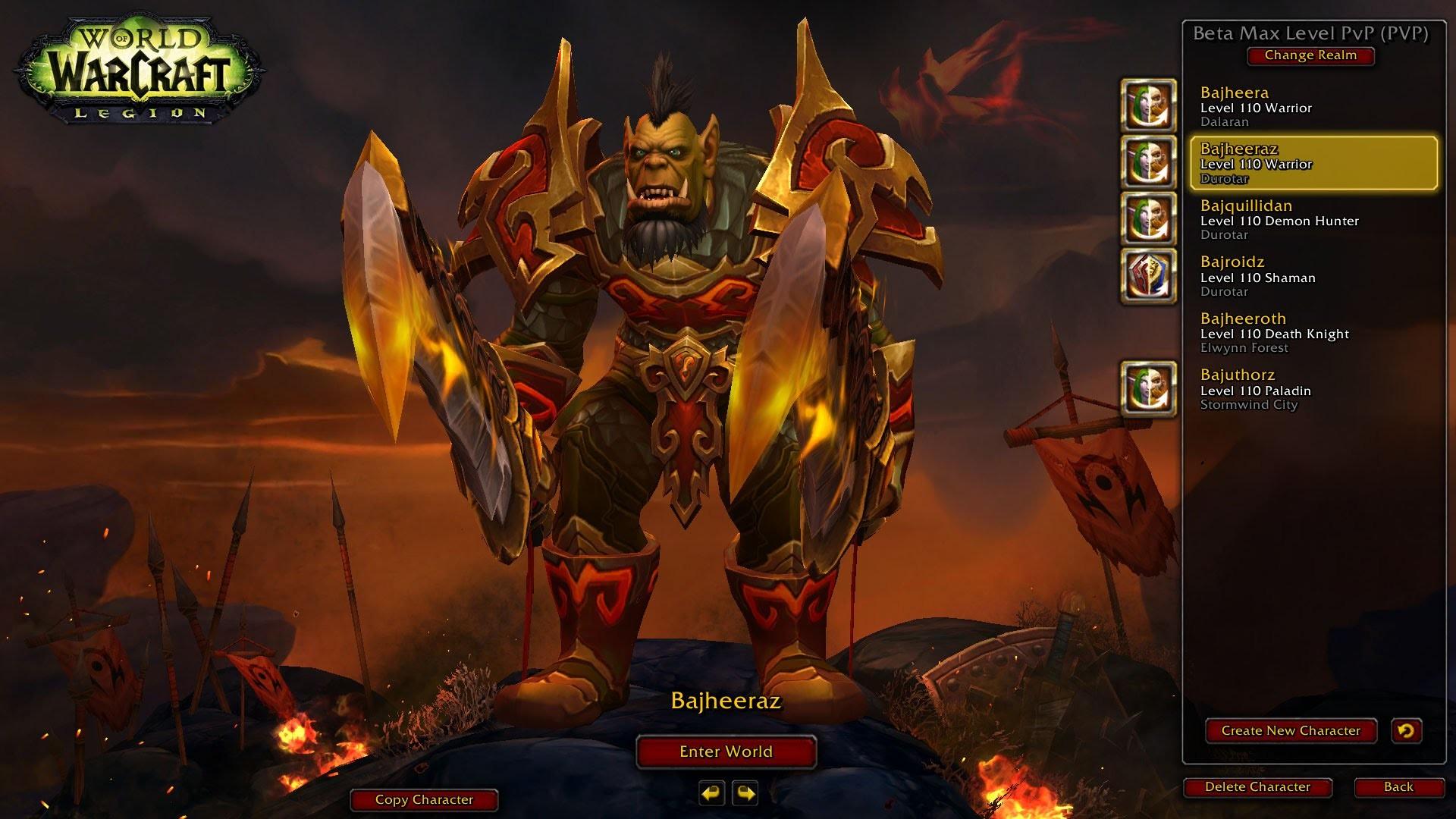 WoW: Legion (Alpha) – Level 110 Fury Warrior/Fire Mage 2v2 ft. Venruki –  Legion Warrior PvP