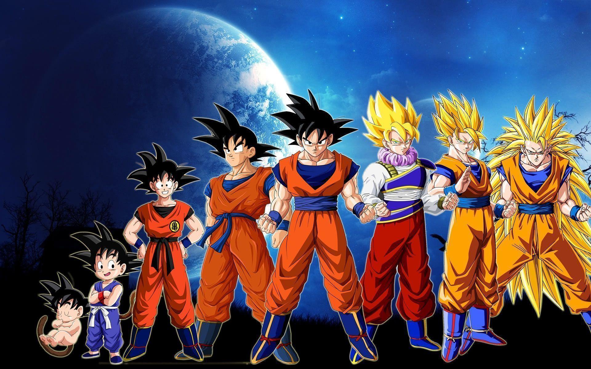 Download Dragonball Goku Evolution Anime Hd Wallpaper .