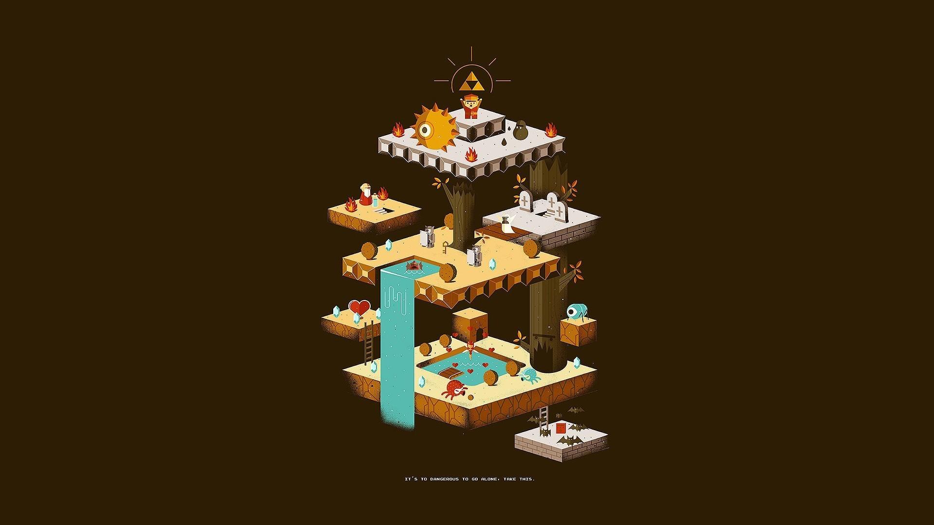 General isometric The Legend of Zelda Triforce rupee