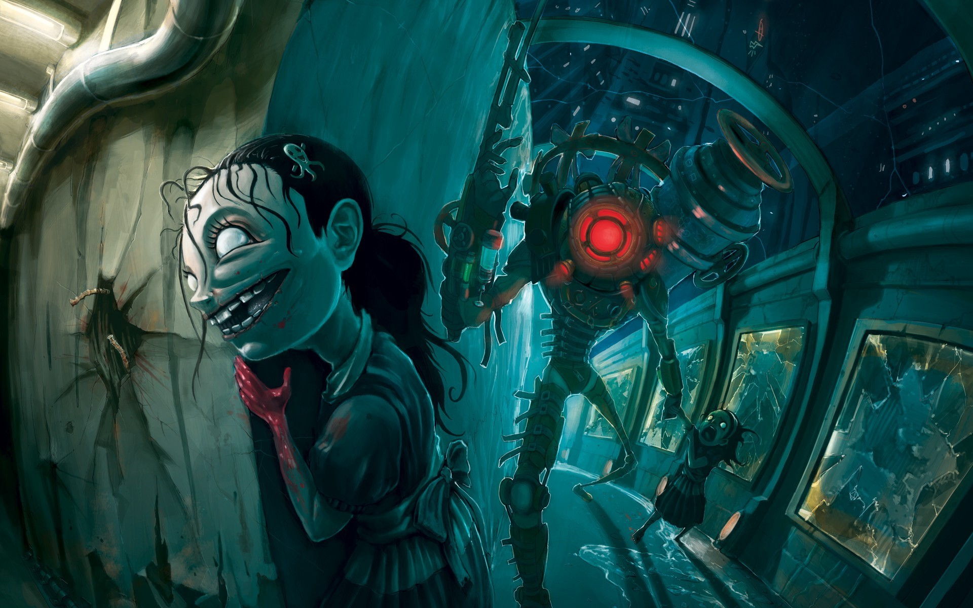 BioShock, Little Sister, Video Games, Rapture, BioShock 2 Wallpapers HD /  Desktop and Mobile Backgrounds