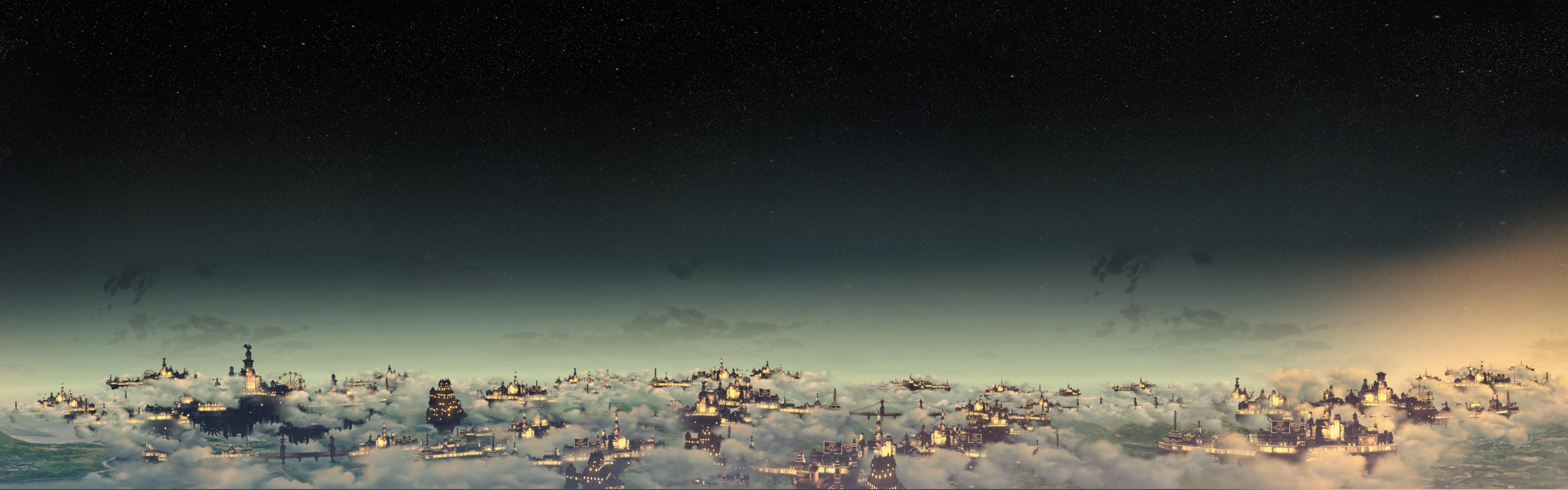 Just beat BioShock Infinite. I had to make this Columbia Panorama Wallpaper  (Dual Monitor)