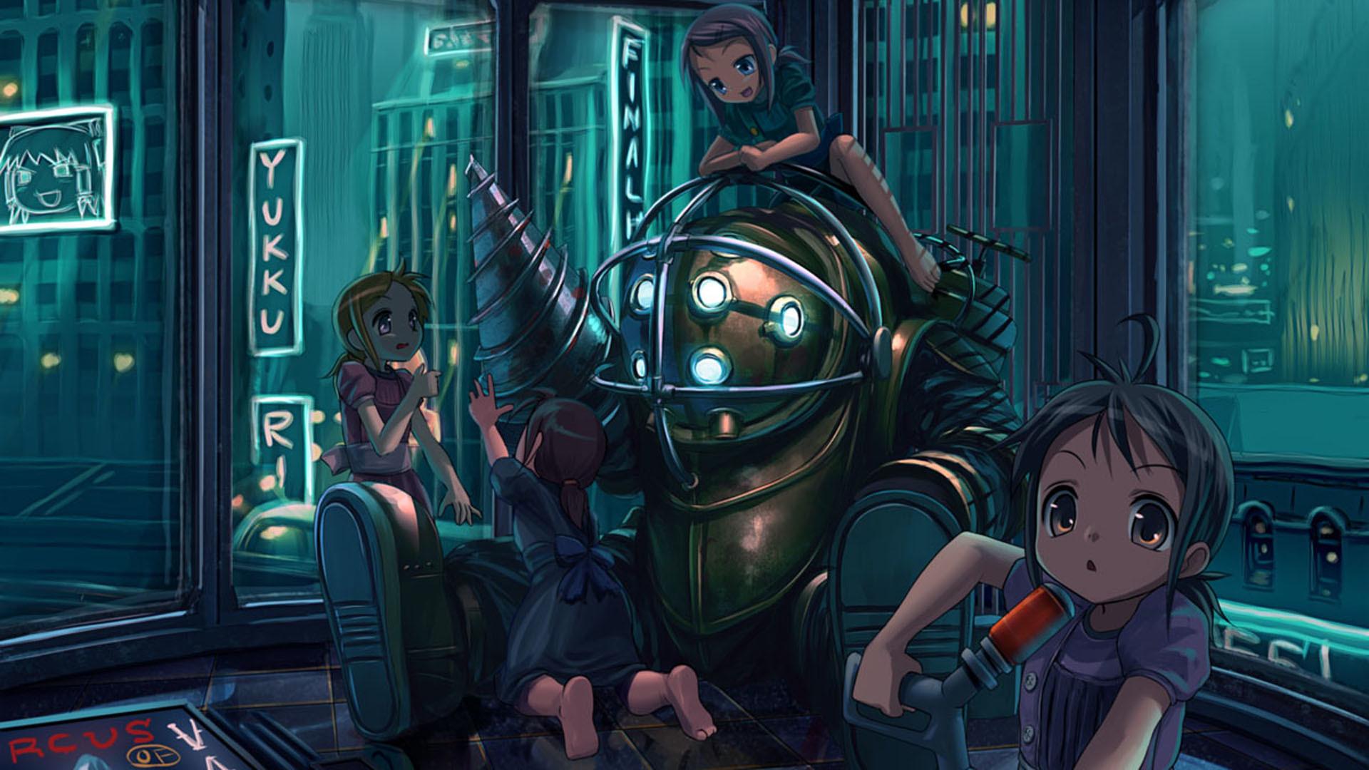 Big Daddy Wallpaper Big, Daddy, Little, Sister, BioShock .