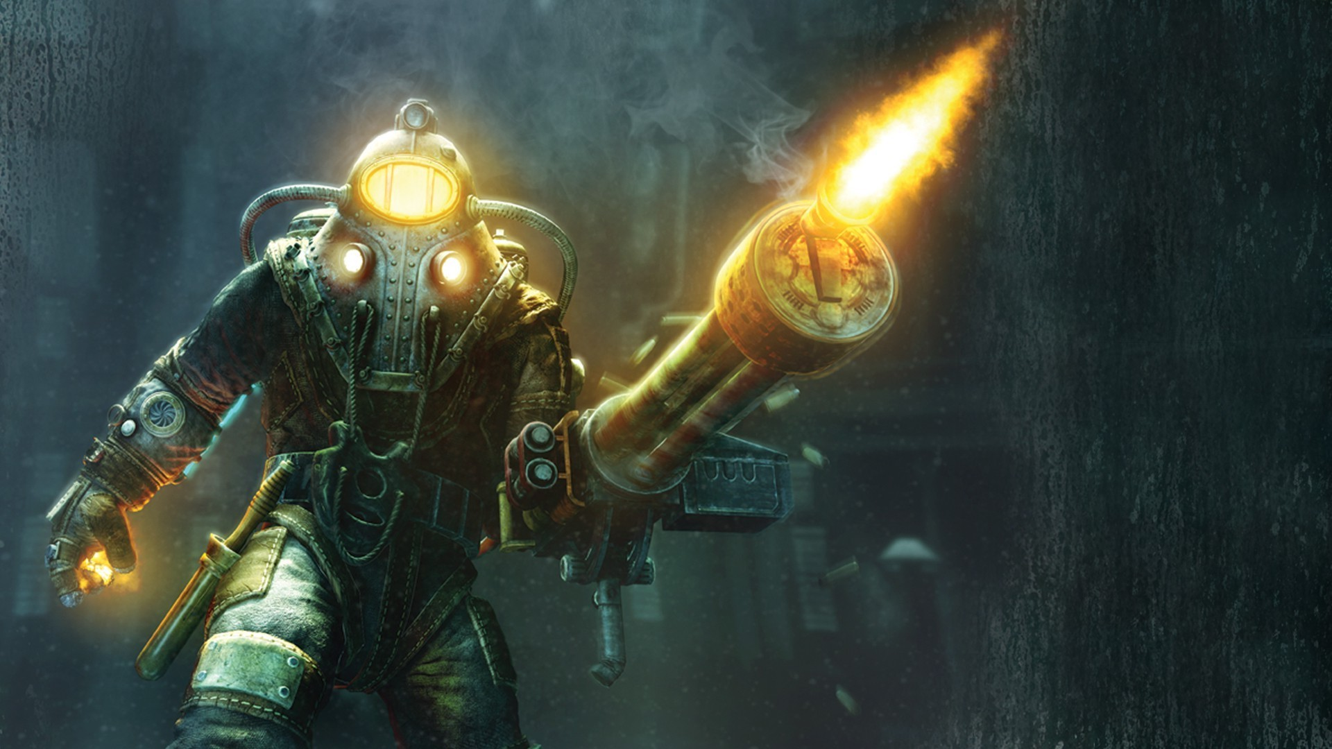 BioShock 2, Video Games, Big Daddy, Rapture, Sea