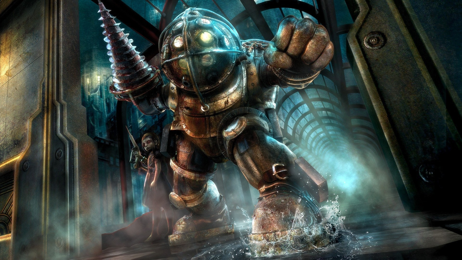 BioShock Video Games Big Daddy Little Sister Rapture Sea …