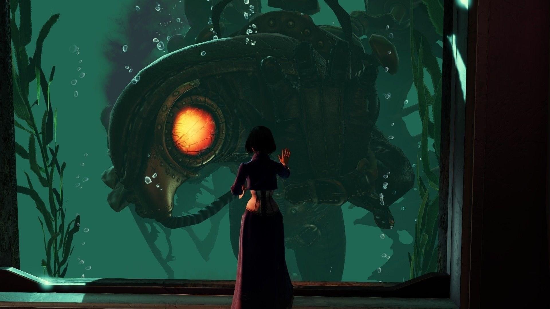 BioShock Infinite Elizabeth Columbia Rapture Songbird Character Video Games  Sea