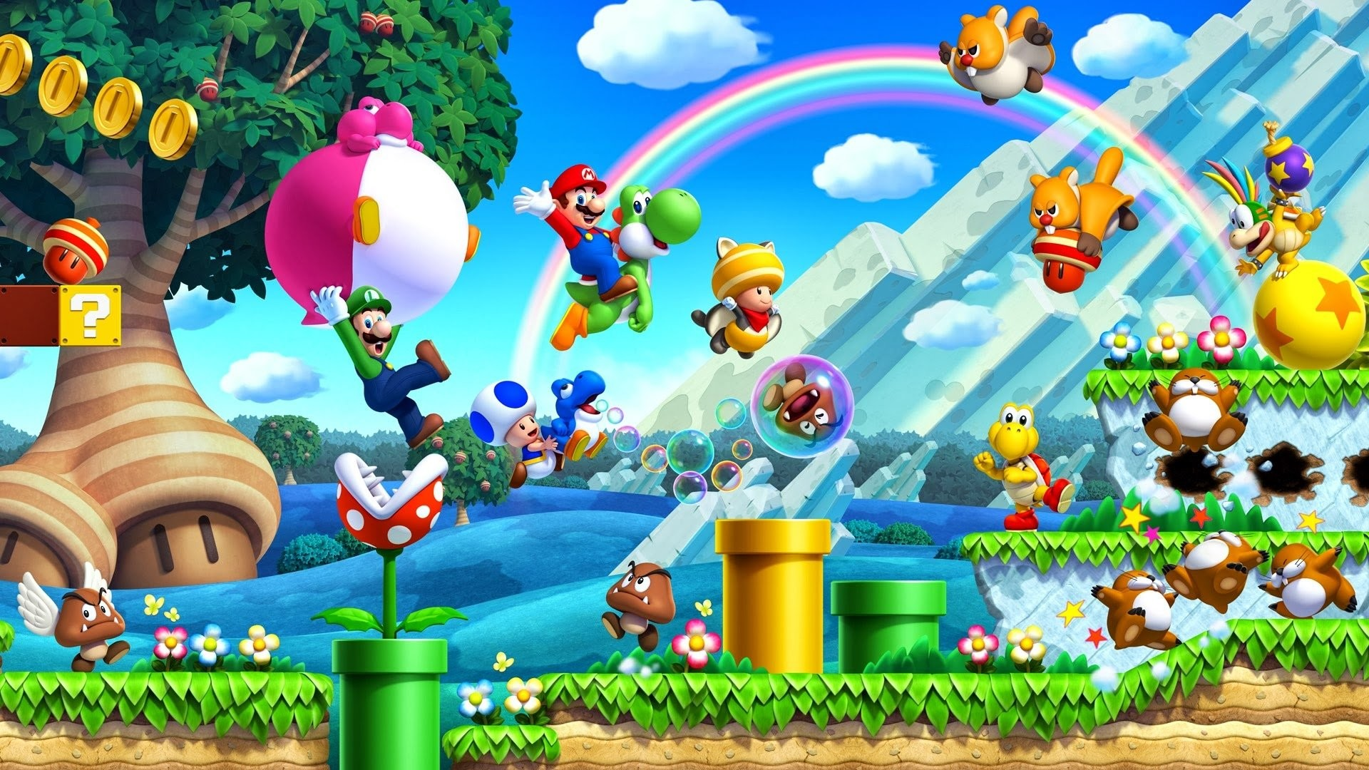 HD Wallpaper | Background ID:610486. Video Game New Super Mario  Bros.