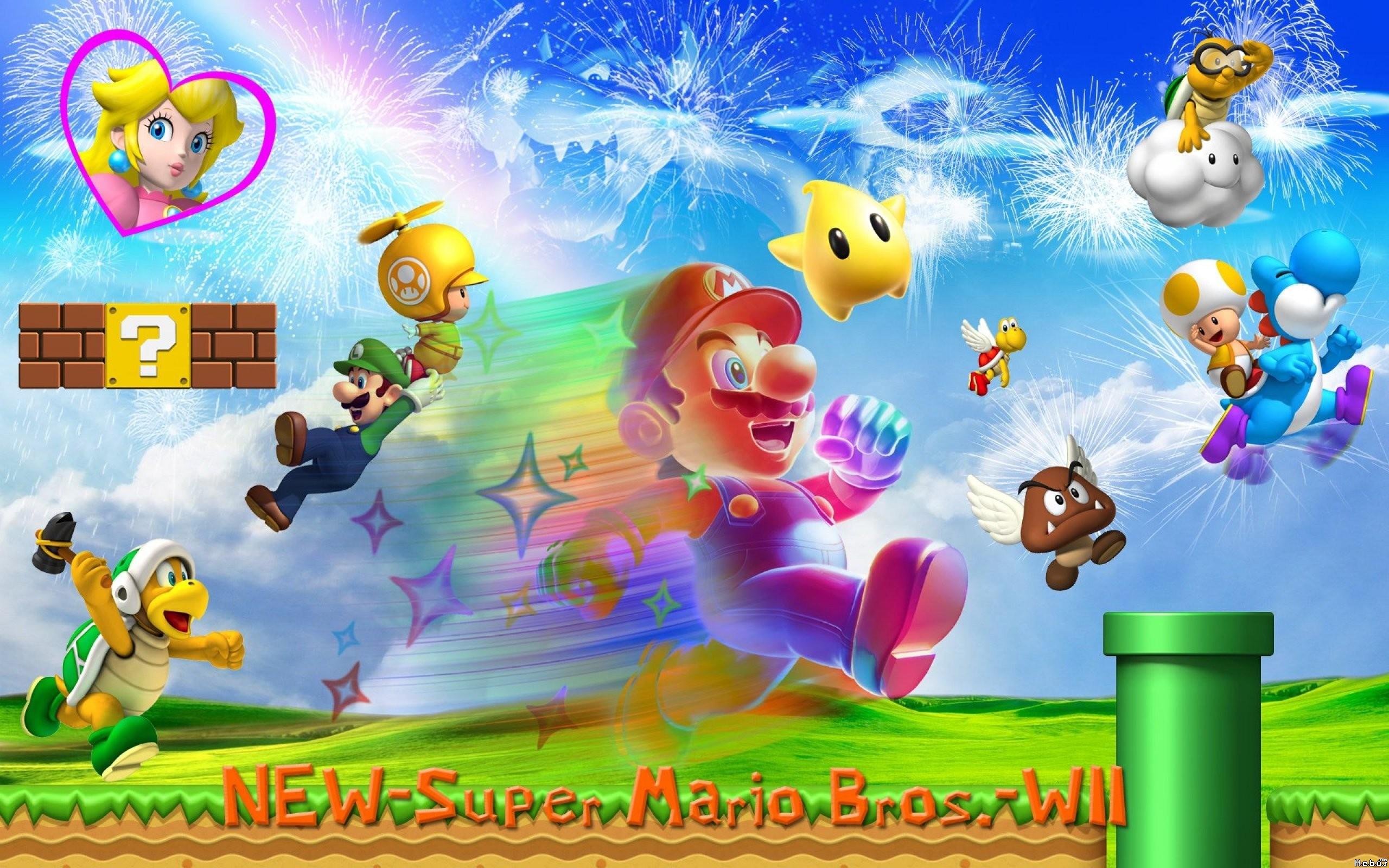 Super Mario Bros. Widescreen Wallpaper 2560×1600