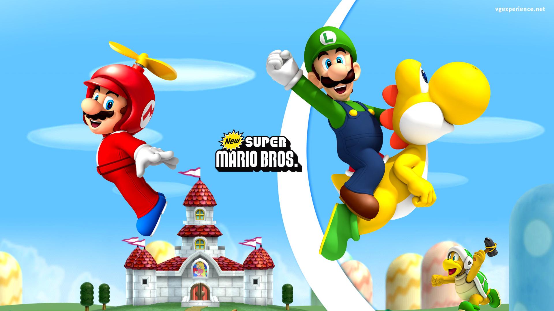 Wii – Fanart – Background New Super Mario Bros.