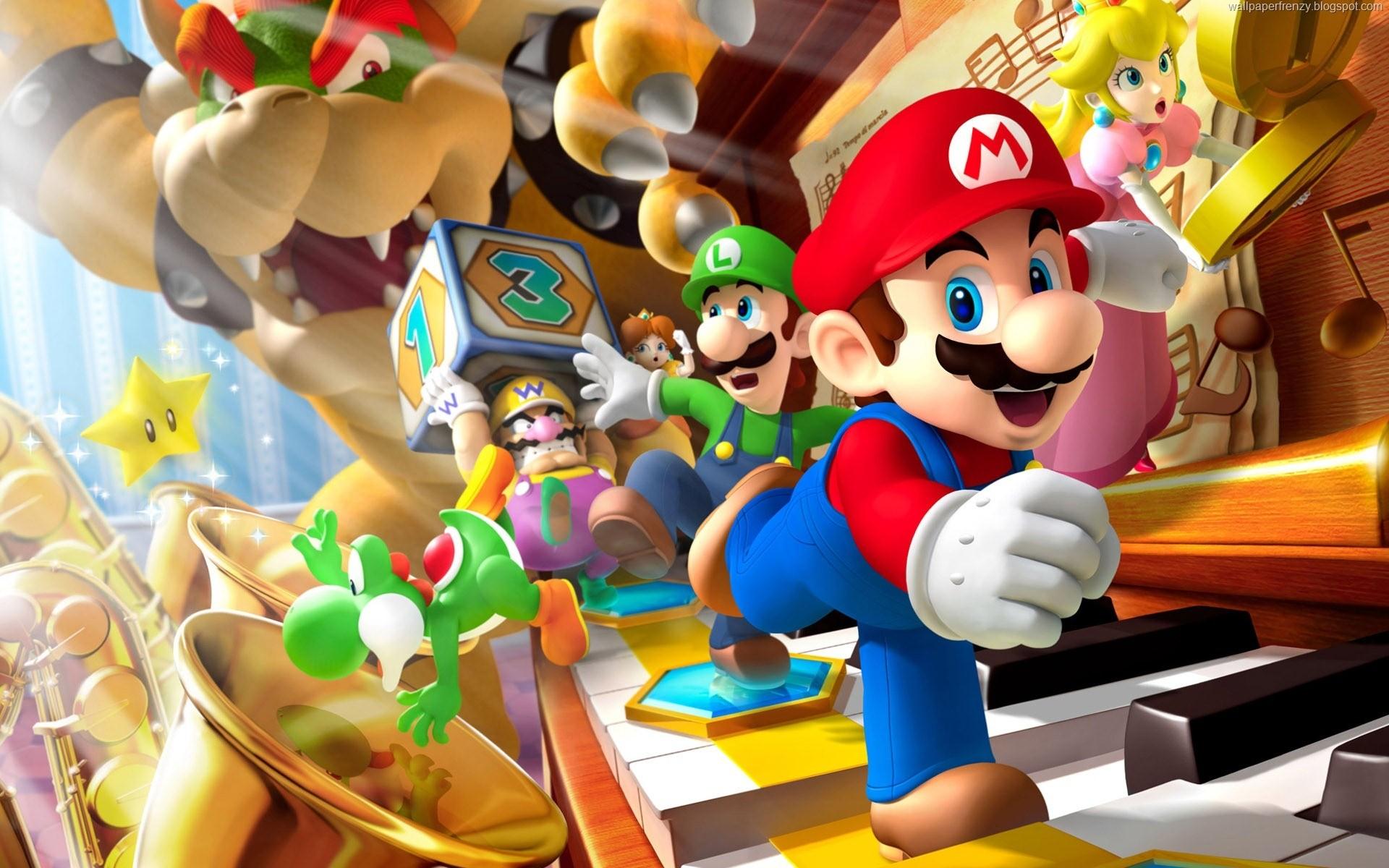 Super Mario Bros HD Wallpaper Murals