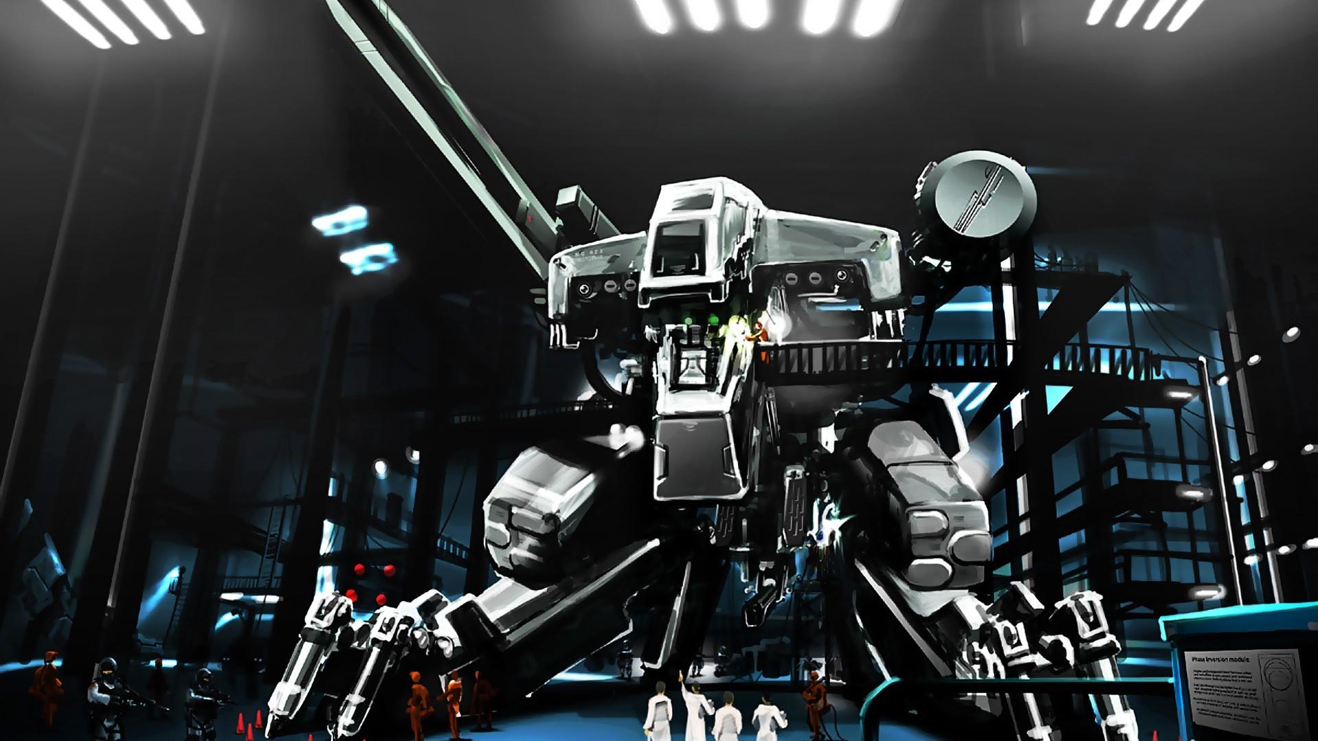 Metal Gear Rex, artwork, mech, robot, fantasy art, Metal Gear