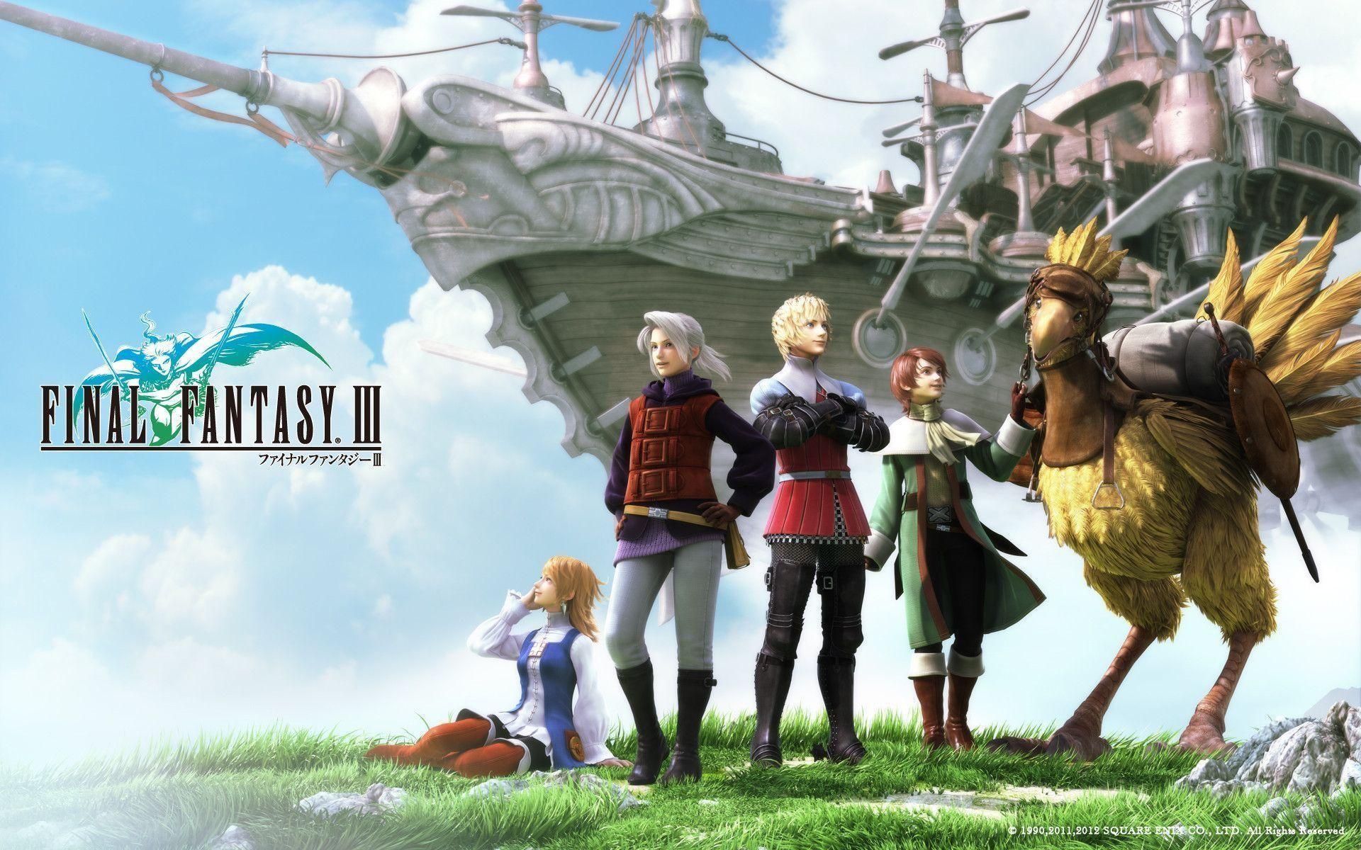 Image – FF3 PSP Wallpaper.jpg – The Final Fantasy Wiki has more .
