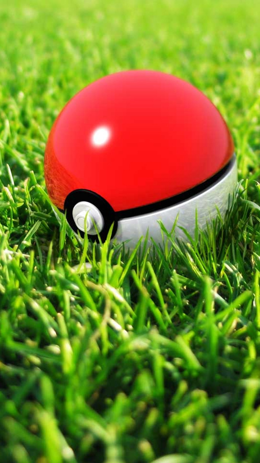 Pokeball In Grass #iPhone #6 #plus #wallpaper