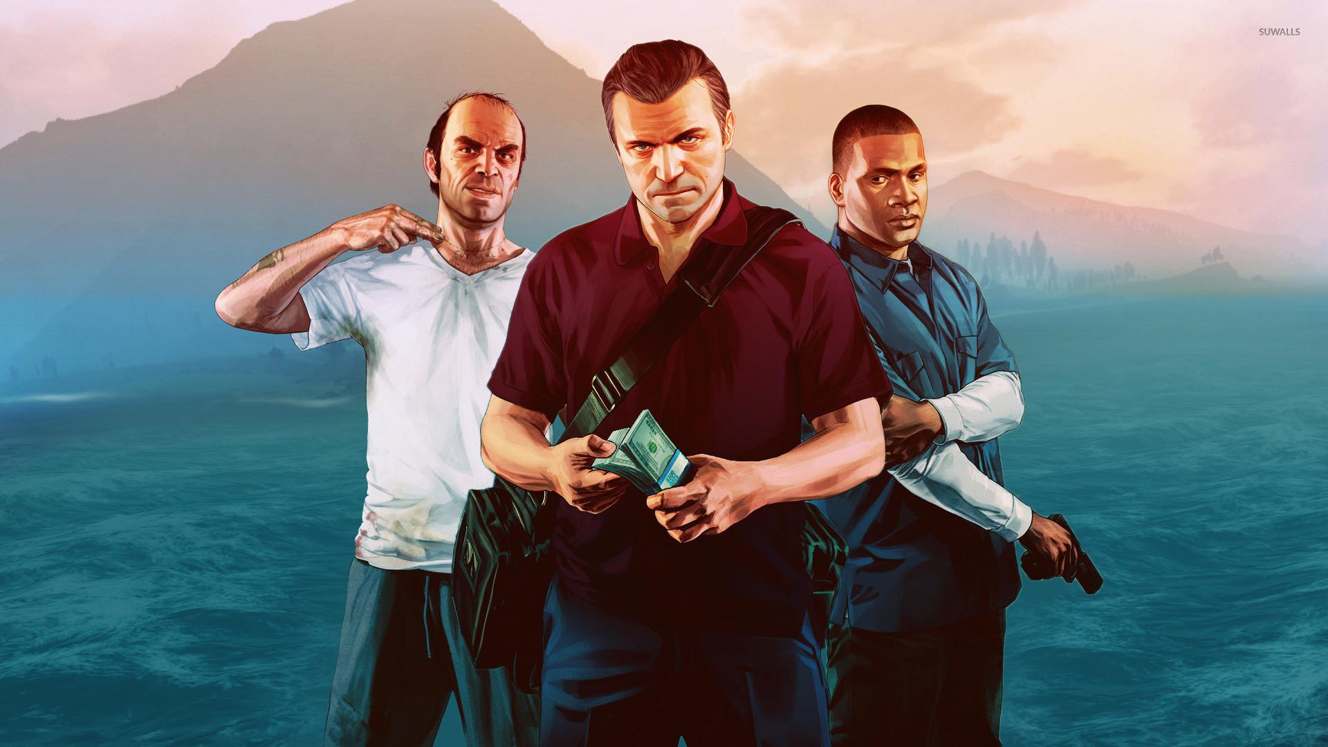 Trevor, Michael and Franklin – Grand Theft Auto V wallpaper jpg