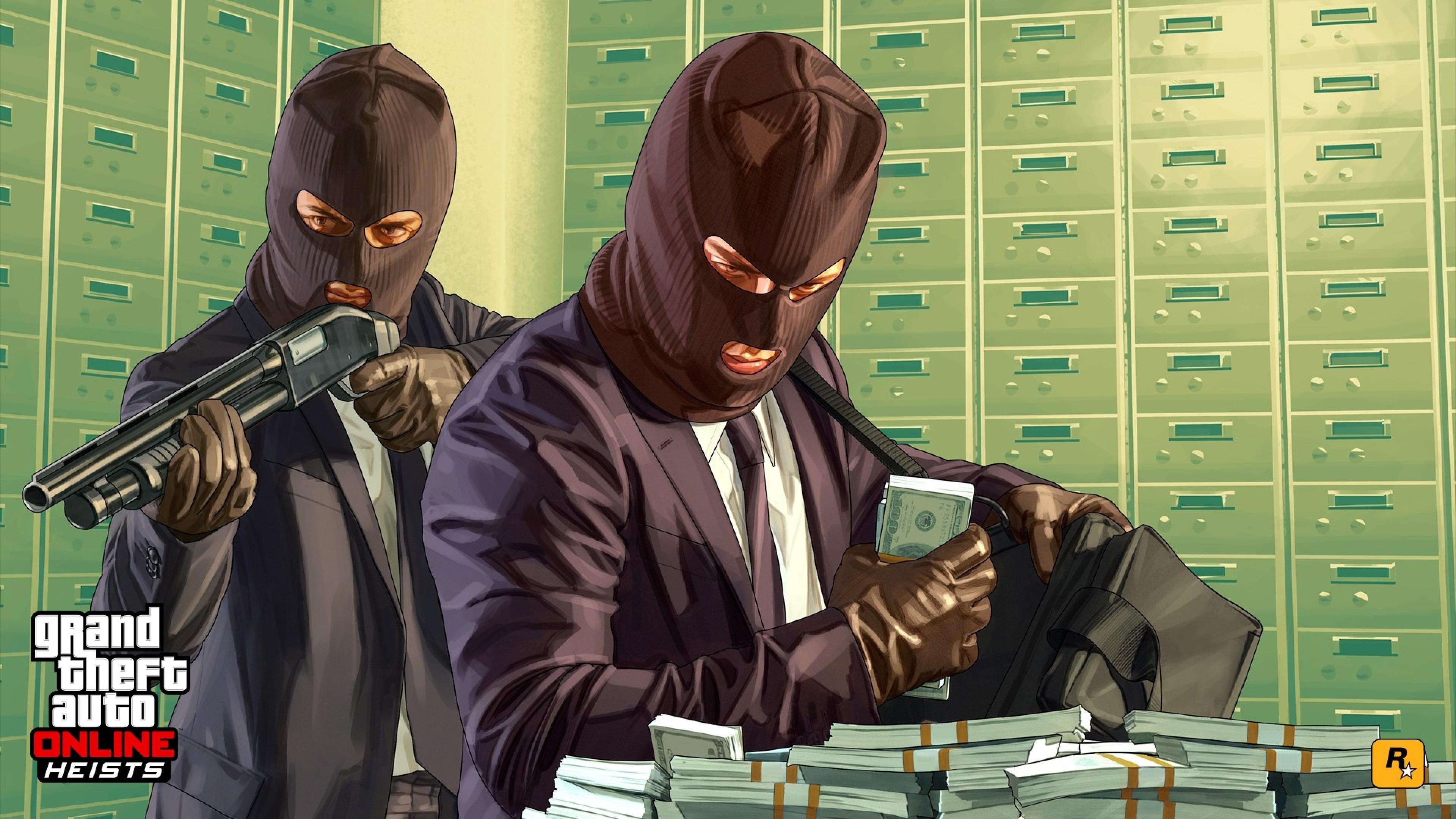Preview wallpaper grand theft auto v, grand theft auto online, rockstar  games, heists