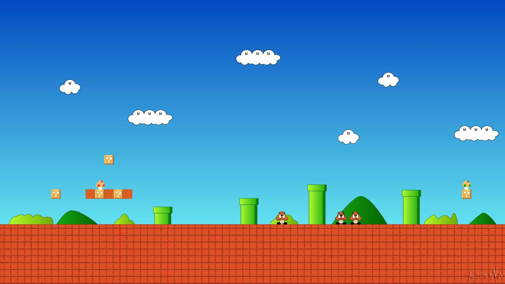 Images For > 8 Bit Mario Wallpaper