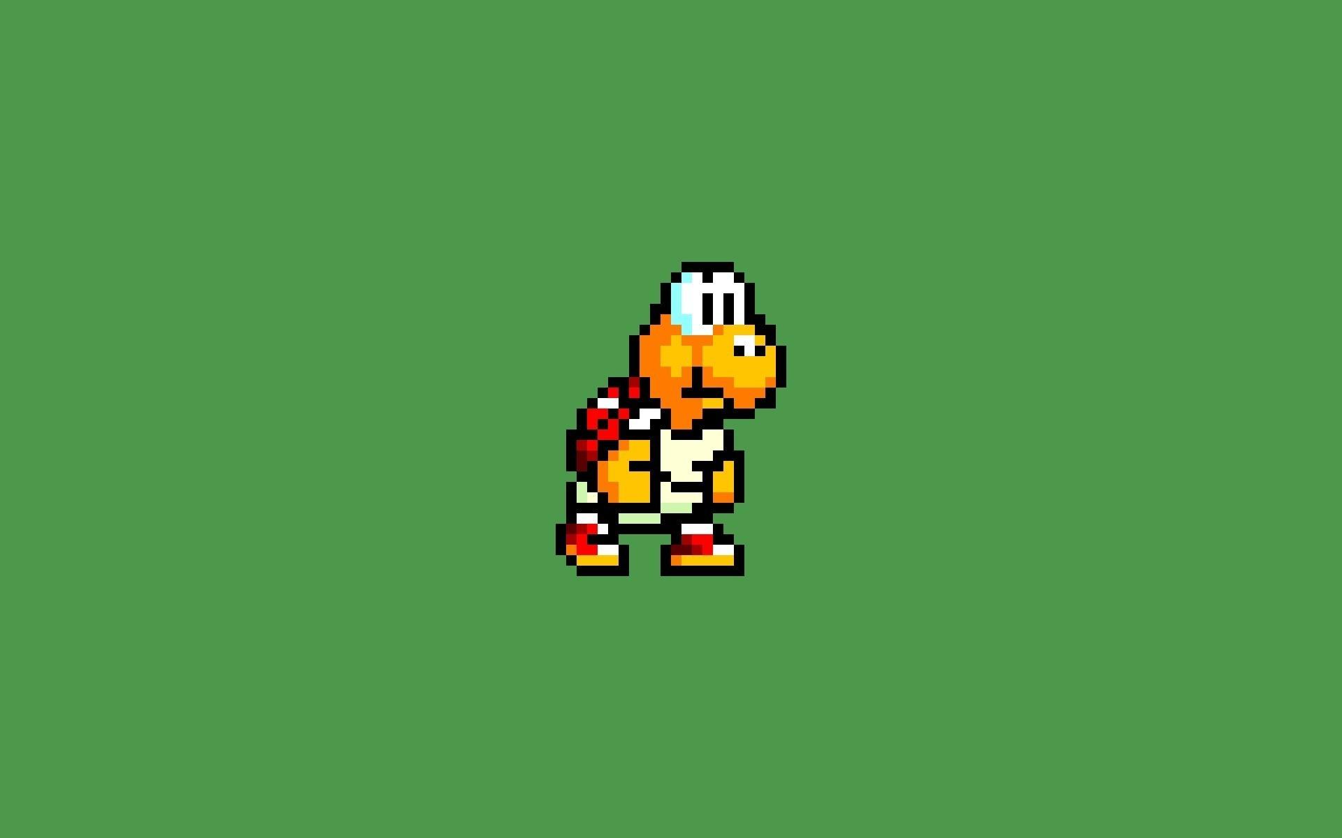 Video games super mario 8-bit wallpaper