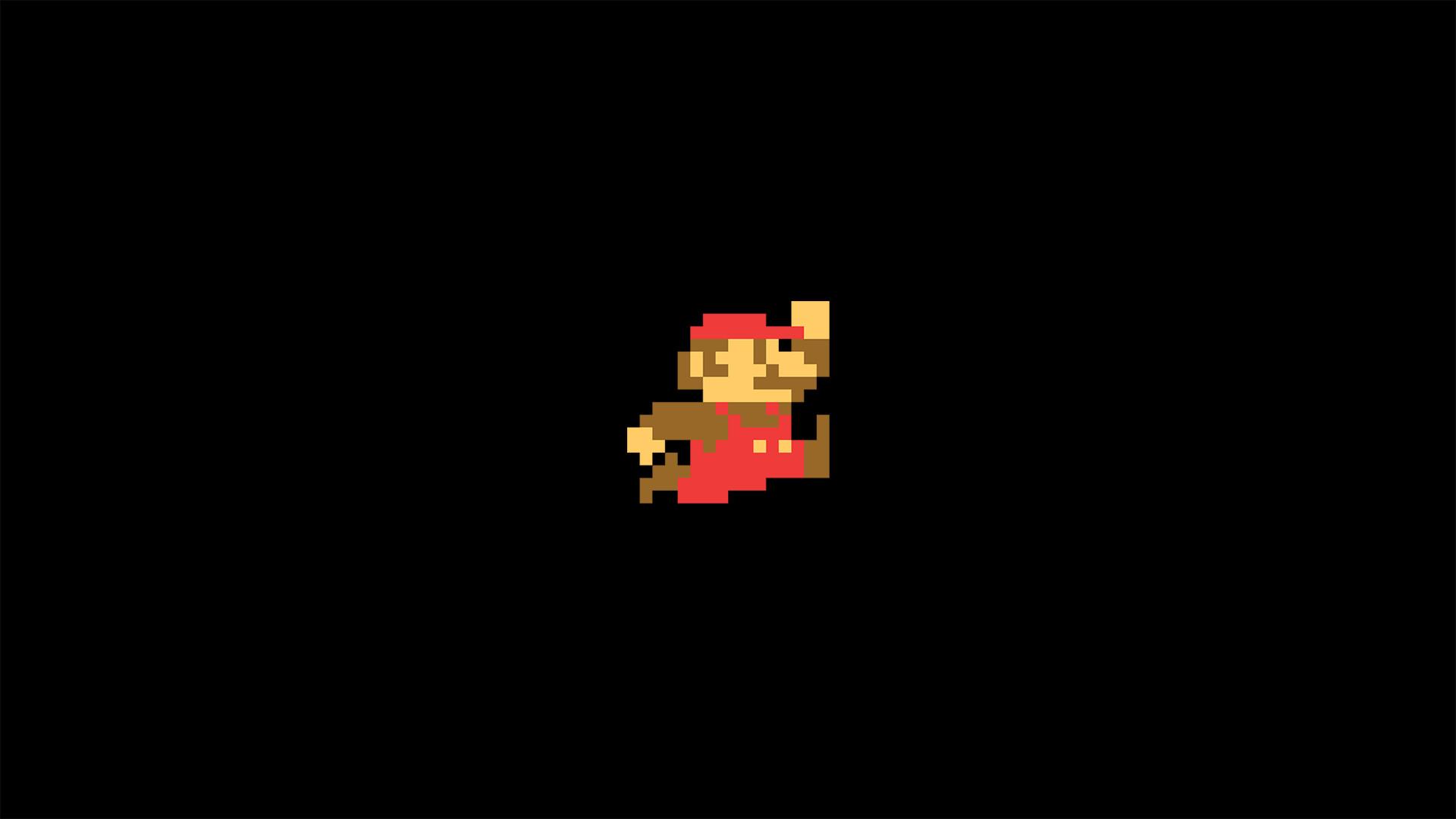 General 8-bit Super Mario minimalism video games pixels