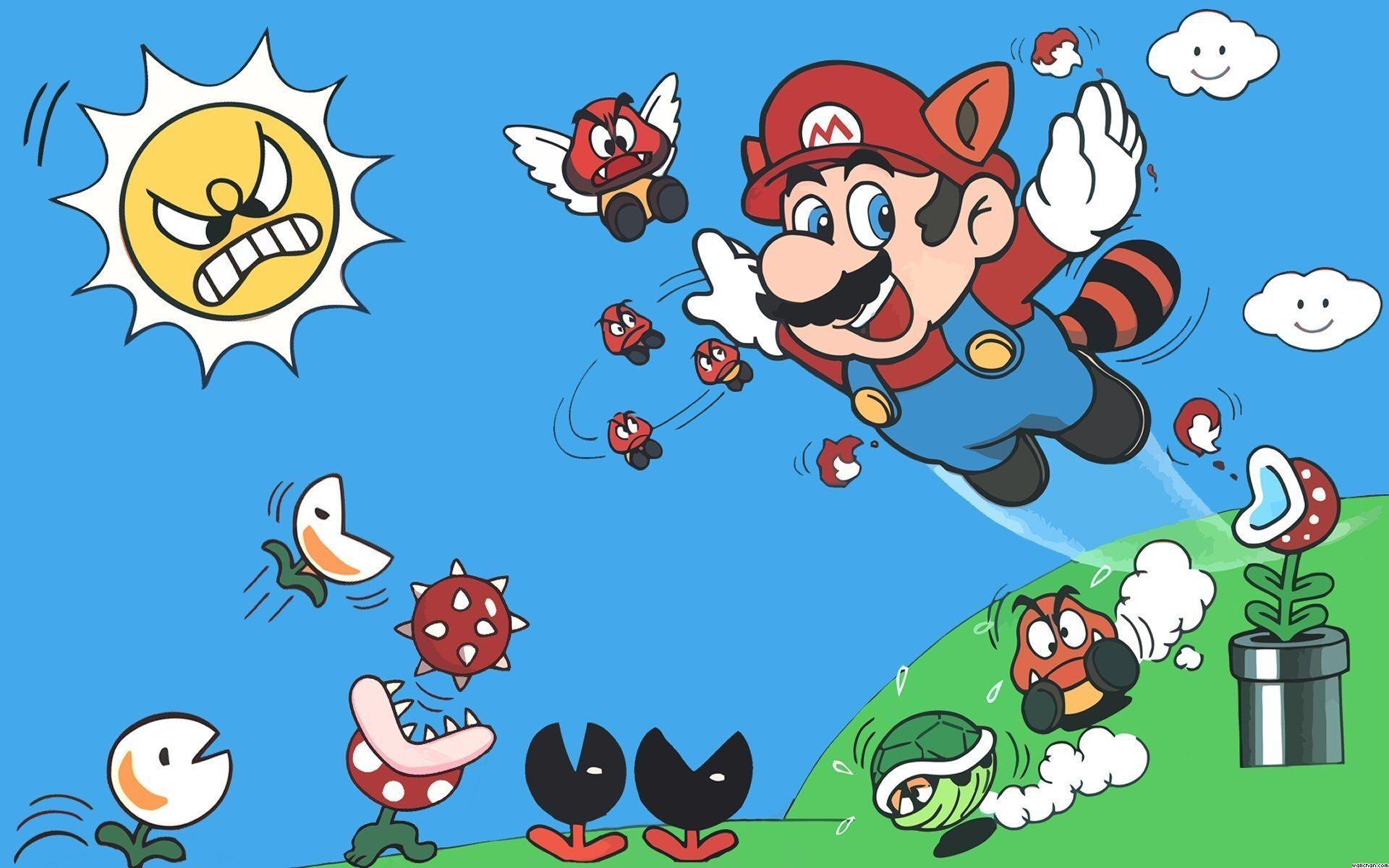 Games Wallpaper: Super Mario Wallpaper 8 Bit Wallpapers with High .