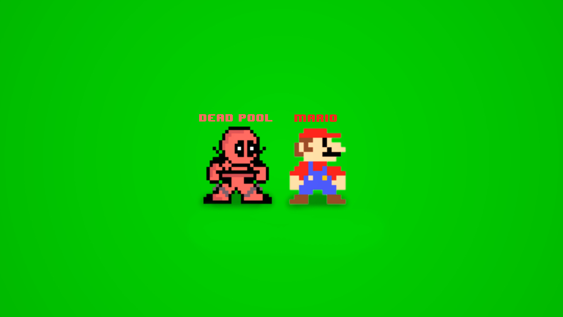… Deadpool and Mario 8bit by Binary-Map