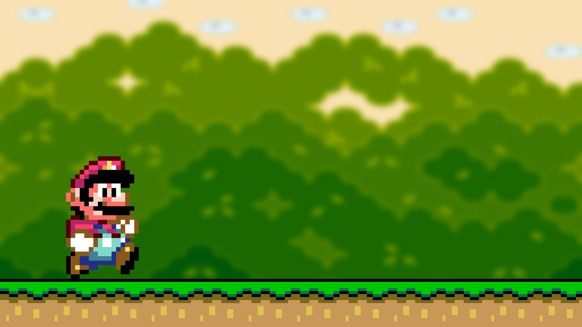 video games Mario Bros Super Mario World retro games wallpaper .