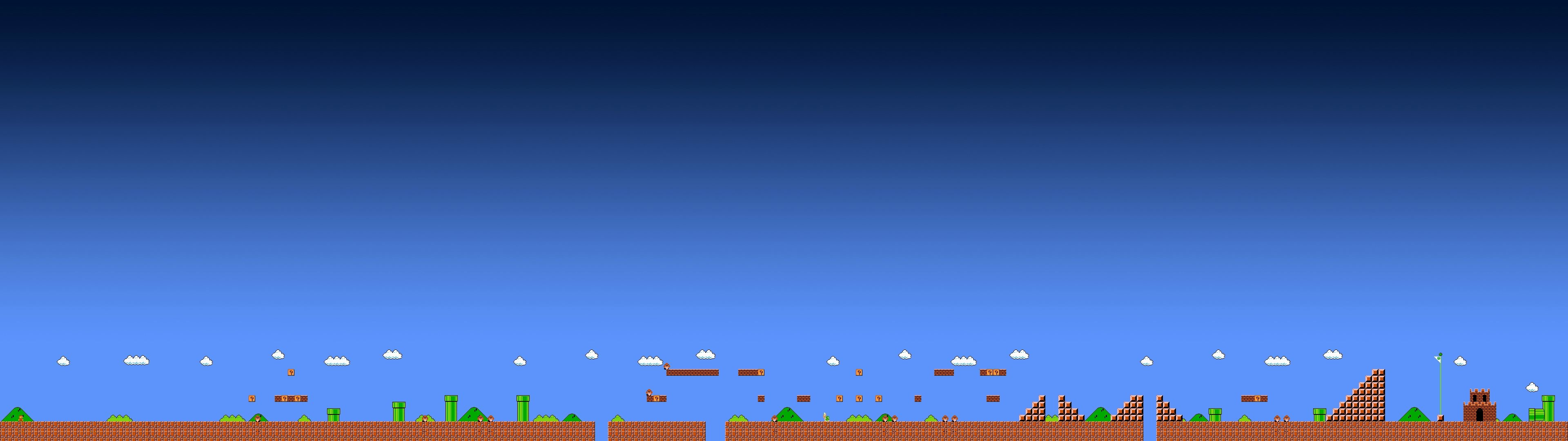 [3840×1080] Super Mario Bros world …