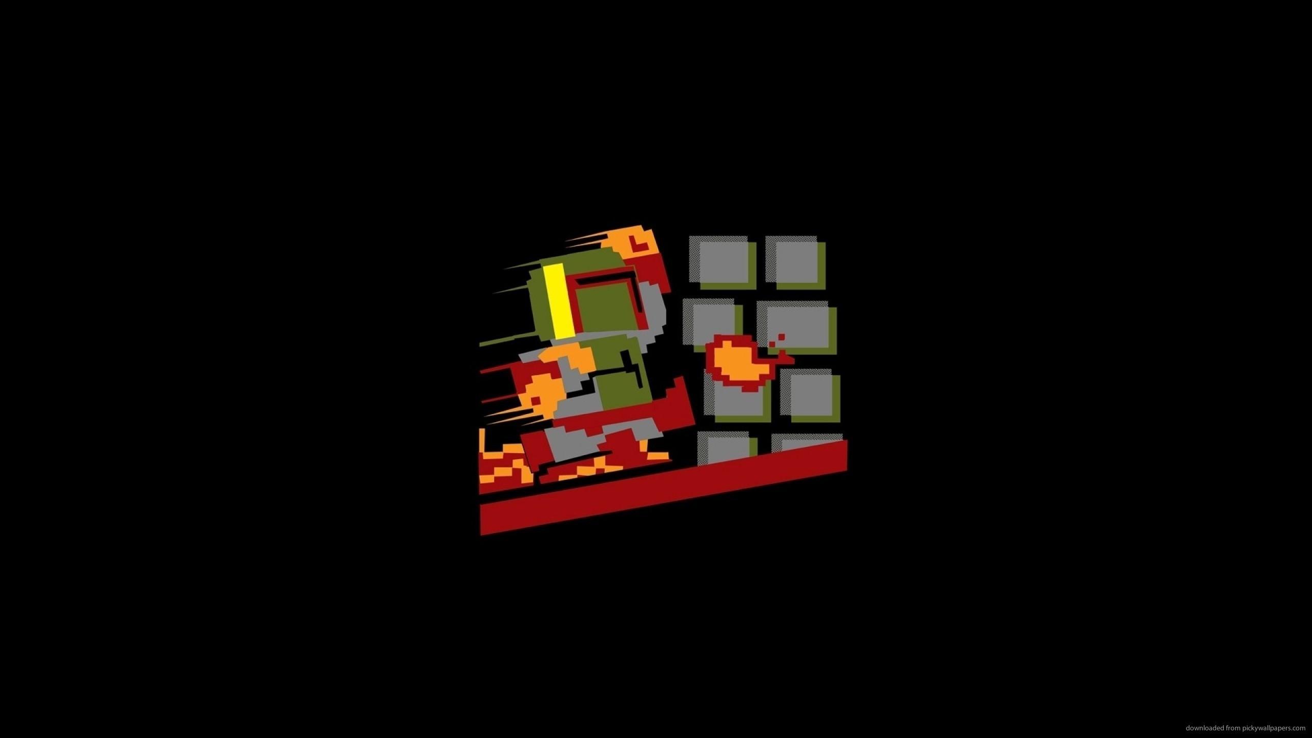 Boba Fett Mario Style for 2560×1440