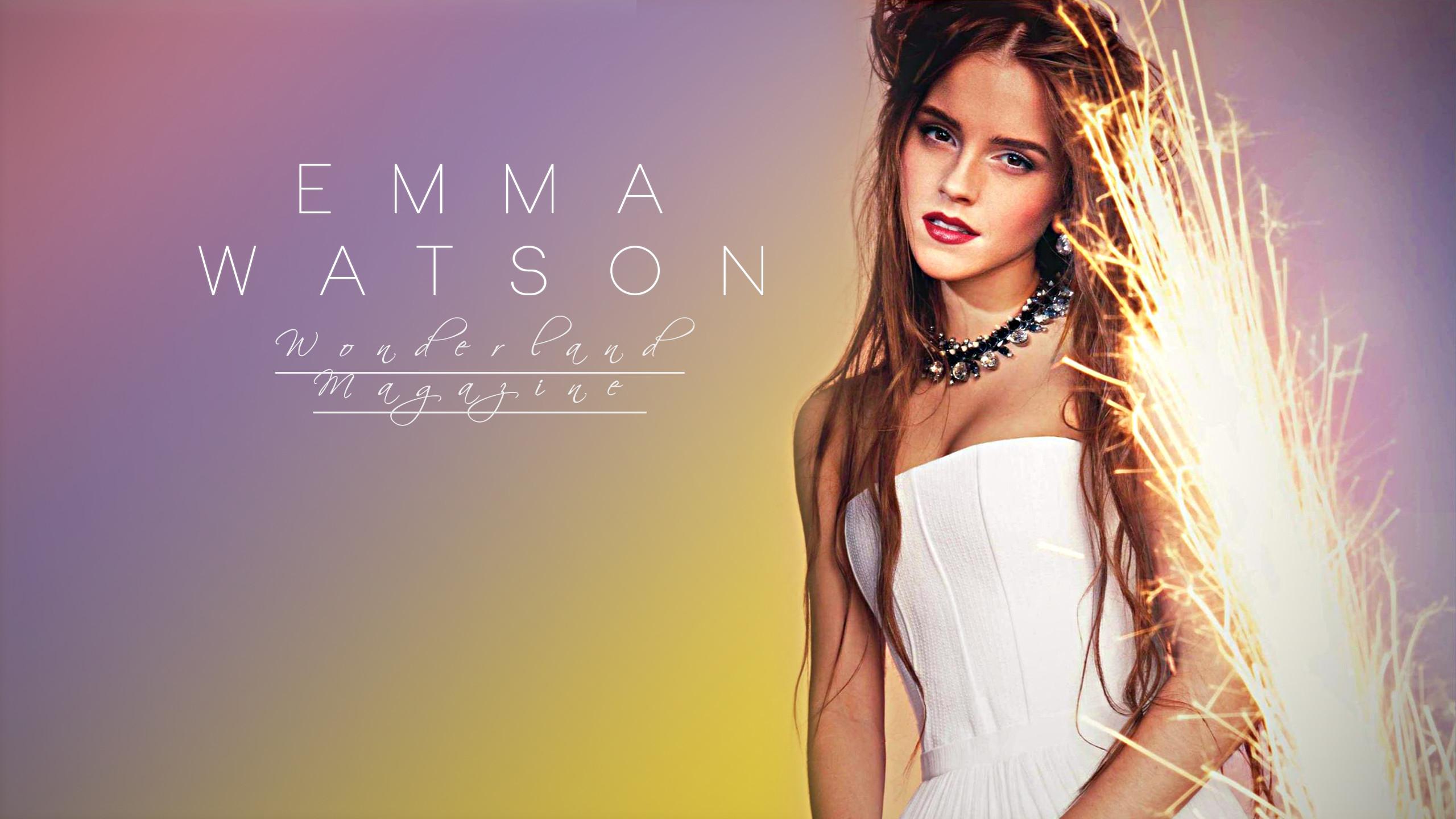 Actress Emma Watson Model Woman Wonderland Magazine